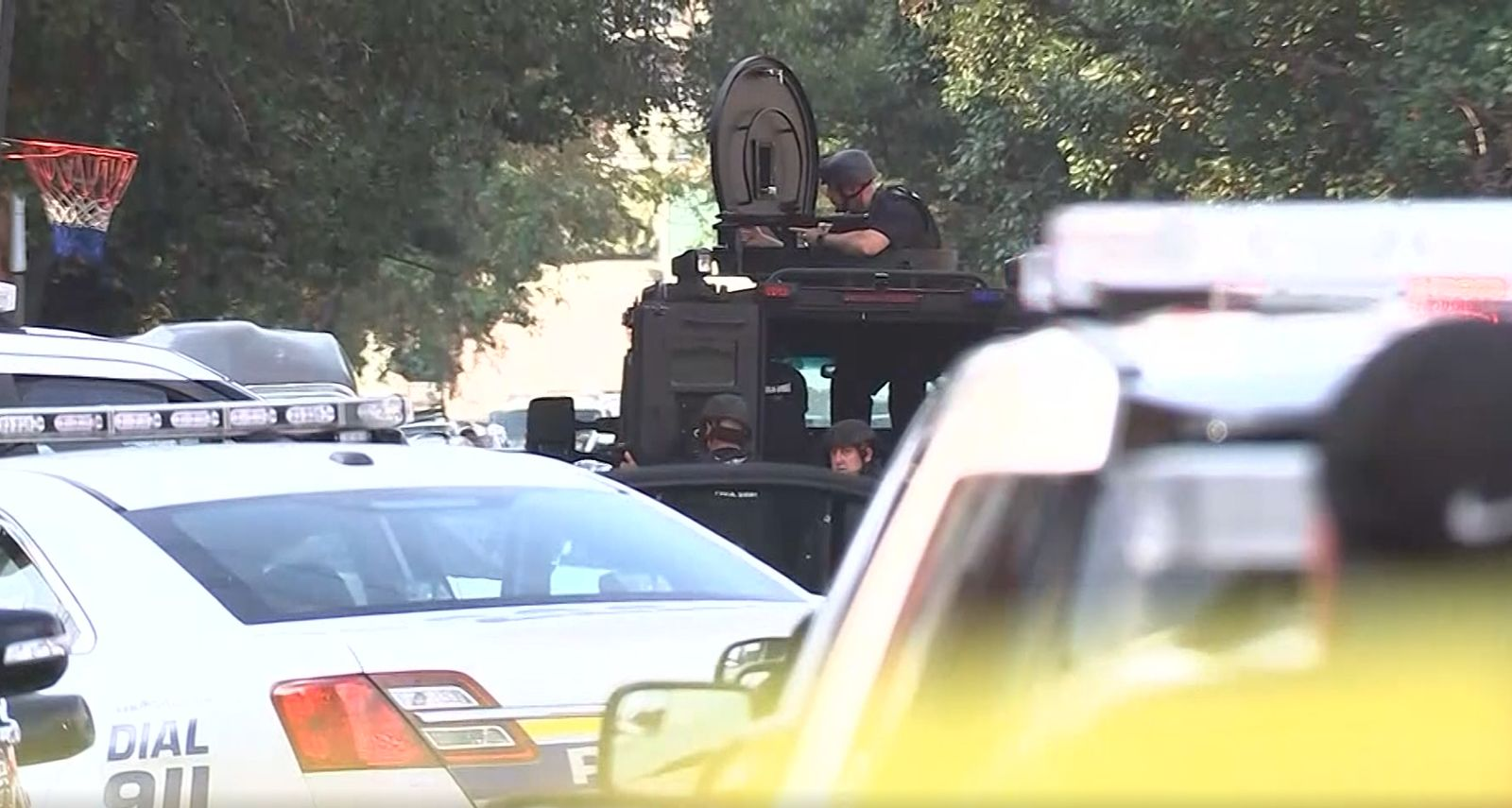 Police respond to a scene where a gunman opened fire on officers in Philadelphia. (KYW/CNN Newsource)