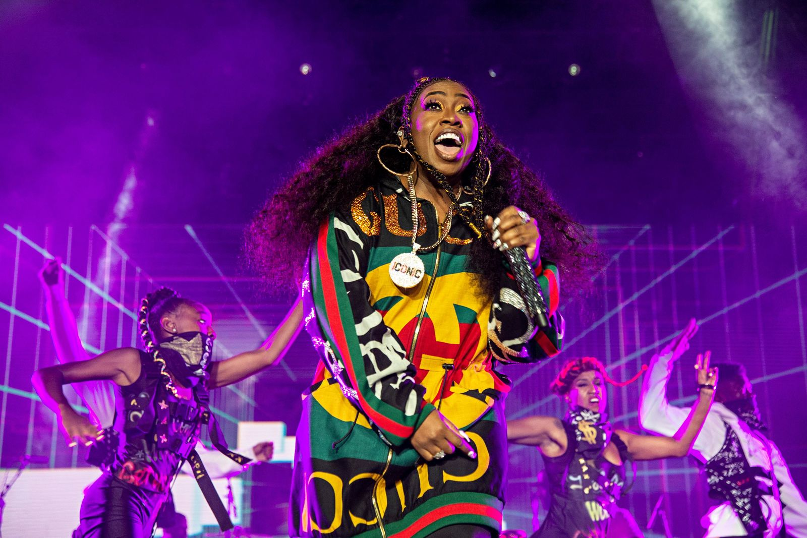 FILE - In this July 7, 2018 file photo, Missy Elliott performs at the 2018 Essence Festival in New Orleans. Missy Elliott is making history as the first female rapper inducted into the Songwriters Hall of Fame, whose 2019 class also includes legendary British singer Cat Stevens and country-folk icon John Prine. The organization announced the new group of inductees Saturday, Jan. 12, 2019. (Photo by Amy Harris/Invision/AP, File)