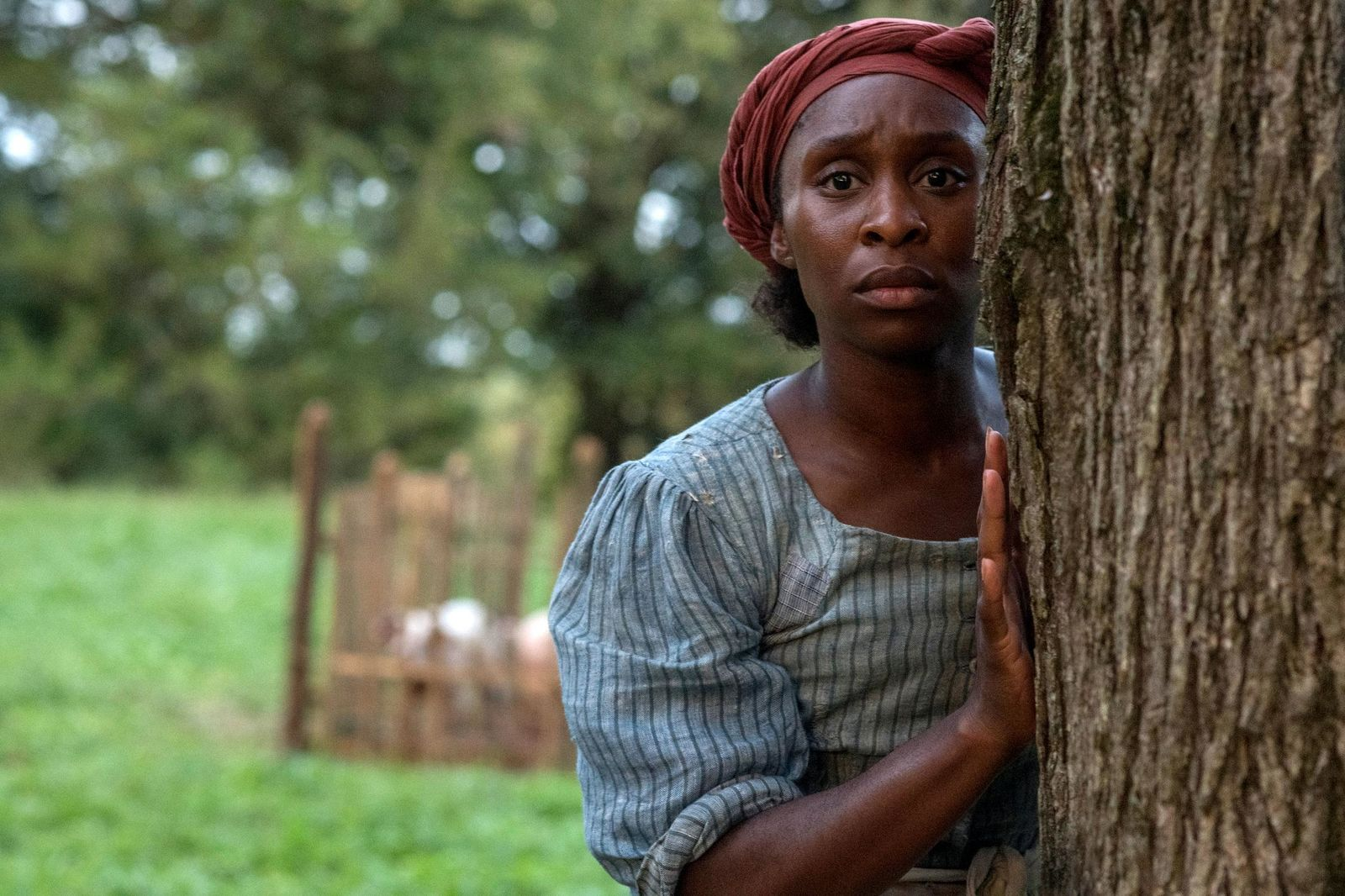 "This image released by Focus Features shows Cynthia Erivo as Harriet Tubman in a scene from ""Harriet,"" a film that will be featured during the Toronto Film Festival. (Glen Wilson/Focus Features via AP)"