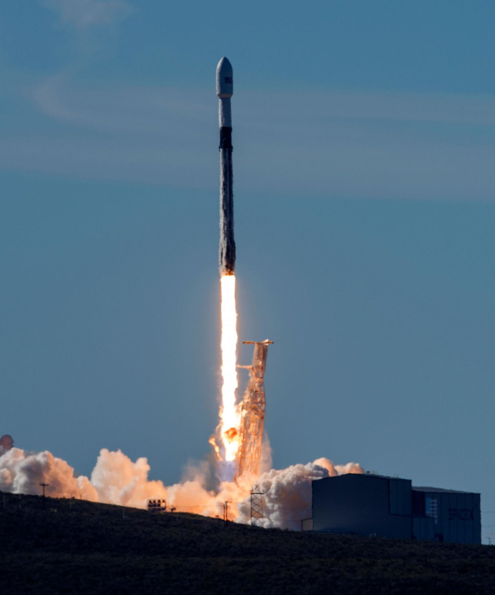 FILE - In this Dec. 3, 2018, file photo, In this photo provided by the U.S. Air Force, a SpaceX Falcon 9 rocket, carrying the Spaceflight SSO-A: SmallSat Express, launches from Space Launch Complex-4E at Vandenberg Air Force Base, Calif.{ } (Senior Airman Clayton Wear/U.S. Air Force via AP, File)
