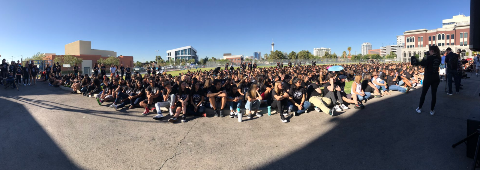 These 1,700 Las Vegas Academy students are celebrating more than just their first week back to school ... it's LVA's 25th anniversary! (Kyndell Nunley | KSNV)
