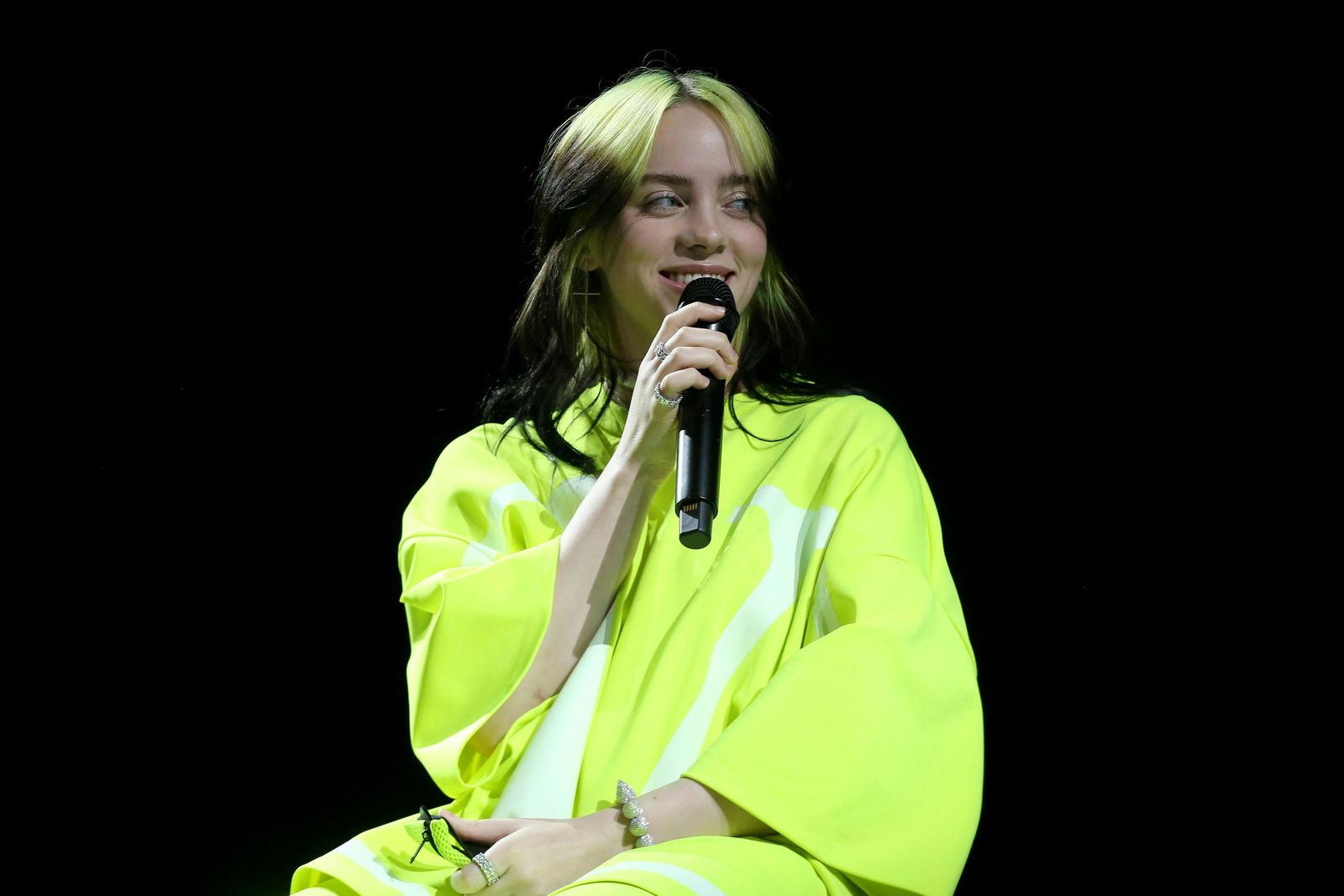 Billie Eilish performs live on stage at the 2020 Spotify Best New Artist Party at The Lot Studios on Thursday, Jan. 23, 2020, in West Hollywood, Calif. (Photo by Willy Sanjuan/Invision/AP)