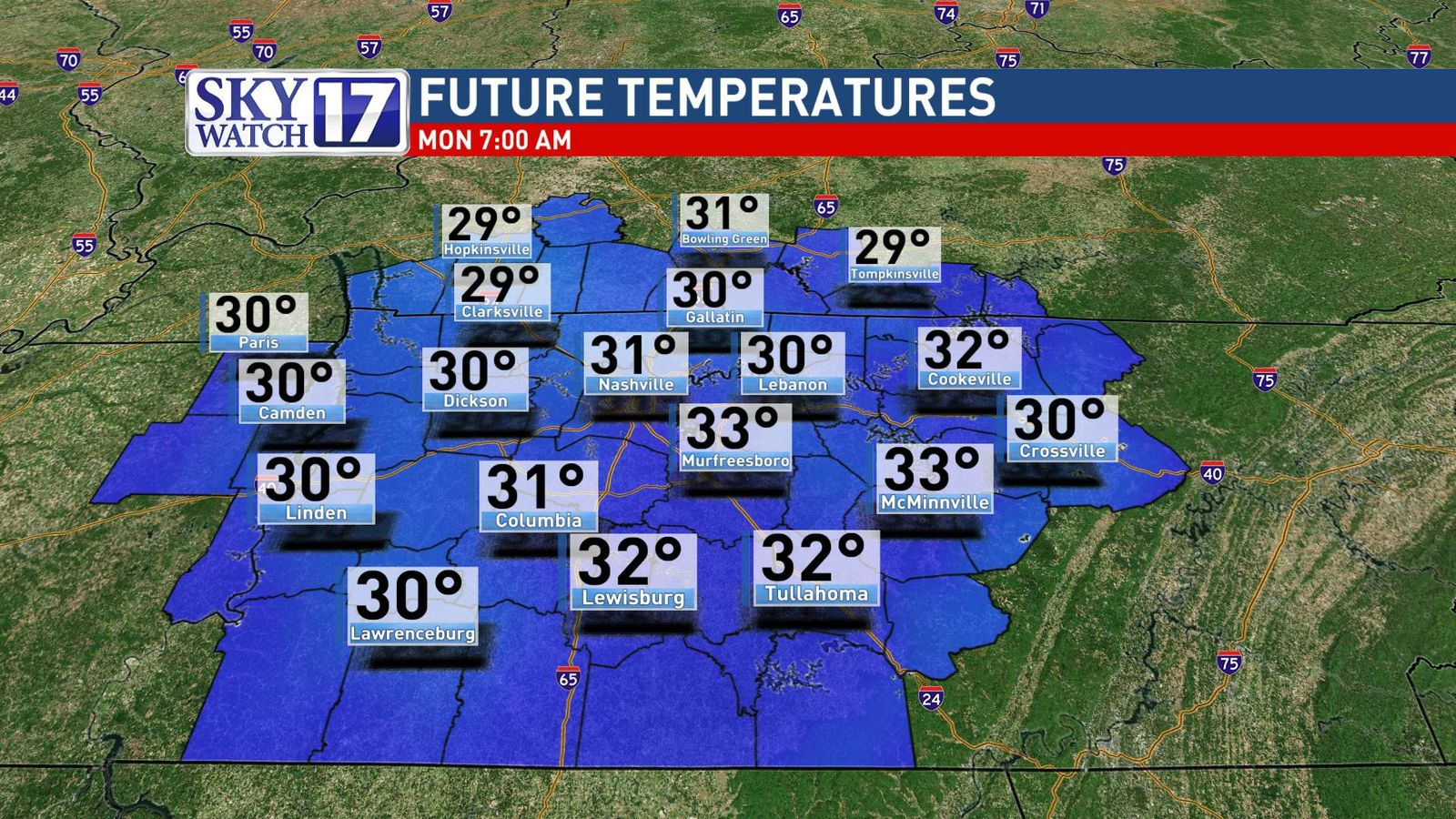 FOX 17 News is in a Code Red alert for the threat of snow in the Cumberland Plateau. (SkyWatch 17).