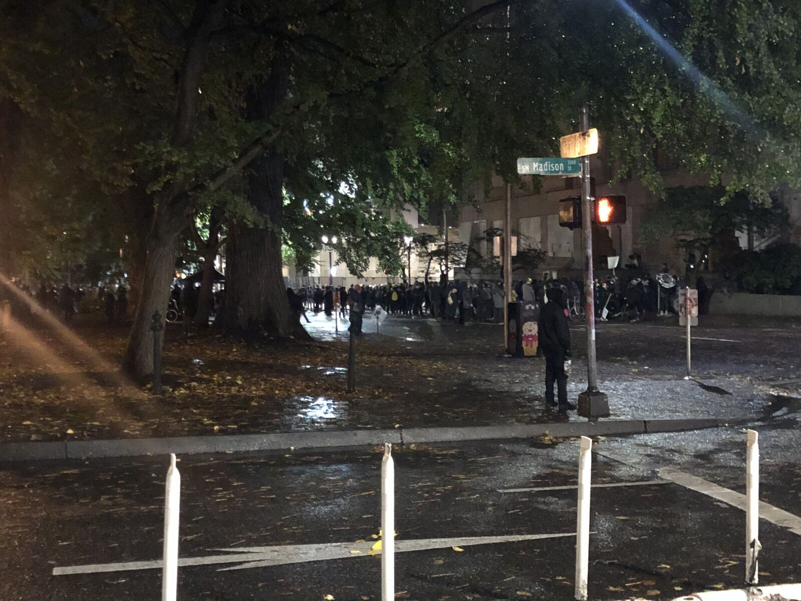 Crowd in downtown Portland on September 23, 2020 (KATU)