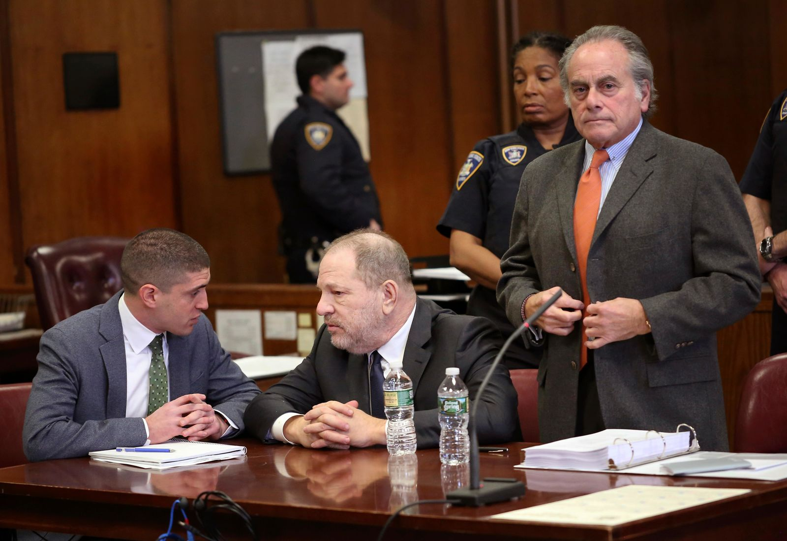 Harvey Weinstein, center, and his attorney Ben Brafman, right, make an appearance in court at New York Supreme Court, Thursday, Dec. 20, 2018, in New York.{ } (Alec Tabak/The Daily News via AP, Pool)
