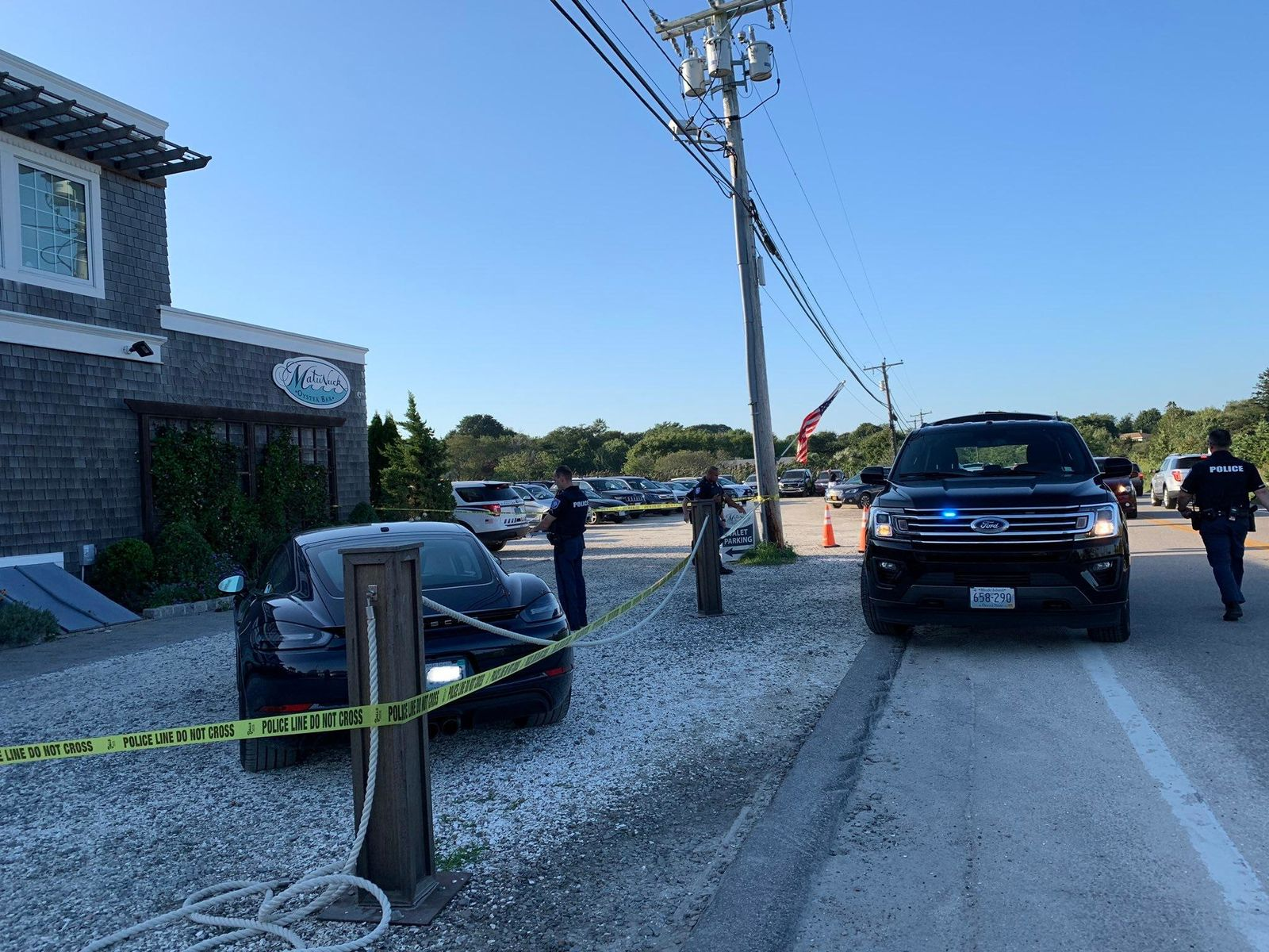 Witnesses told NBC 10 Friday, Aug. 30, 2019 that a driver hit multiple people with car in South Kingstown. (WJAR)
