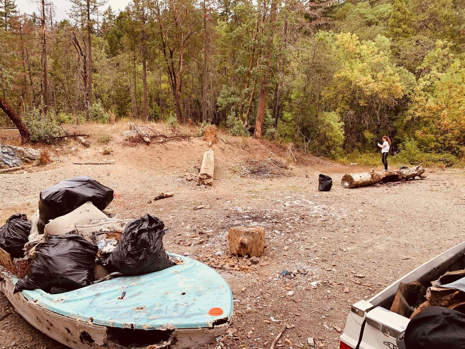 Garbage the Oregon Border Patrol found in the forest. (Courtesy: Sam Watson){ }