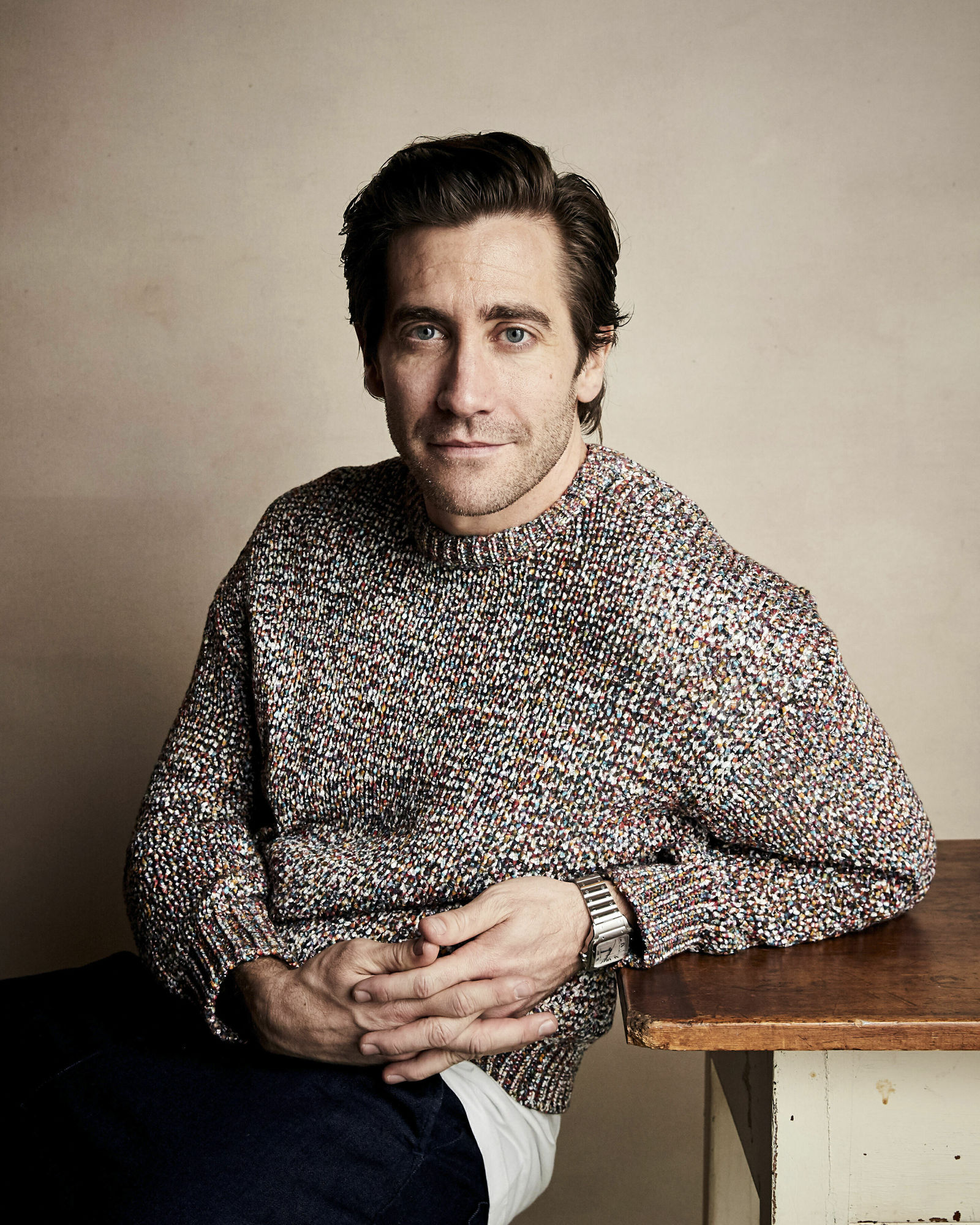 "Jake Gyllenhaal poses for a portrait to promote the film ""Velvet Buzzsaw"" at the Salesforce Music Lodge during the Sundance Film Festival on Sunday, Jan. 27, 2019, in Park City, Utah. (Photo by Taylor Jewell/Invision/AP)"
