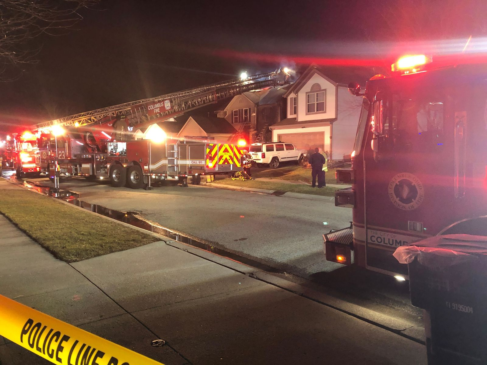 Columbus Fire officials say three people are confirmed dead, including a child, after a house fire on the city's southeast side. (WSYX/WTTE)