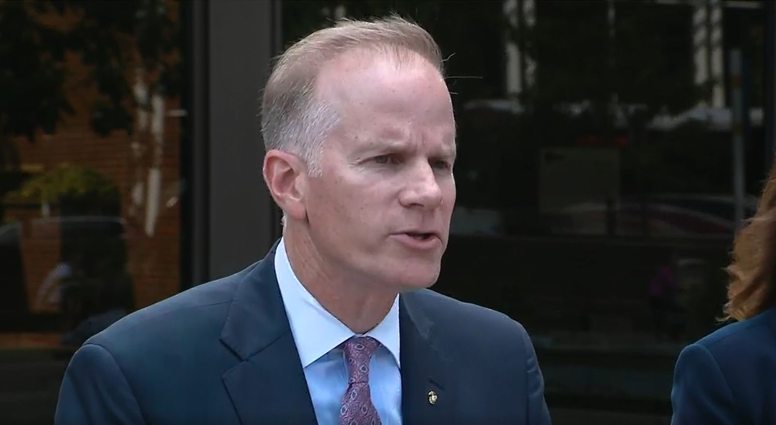 US Attorney William McSwain criticizes Philadelphia's district attorney in the wake of a police shootout. (KYW/CNN Newsource)