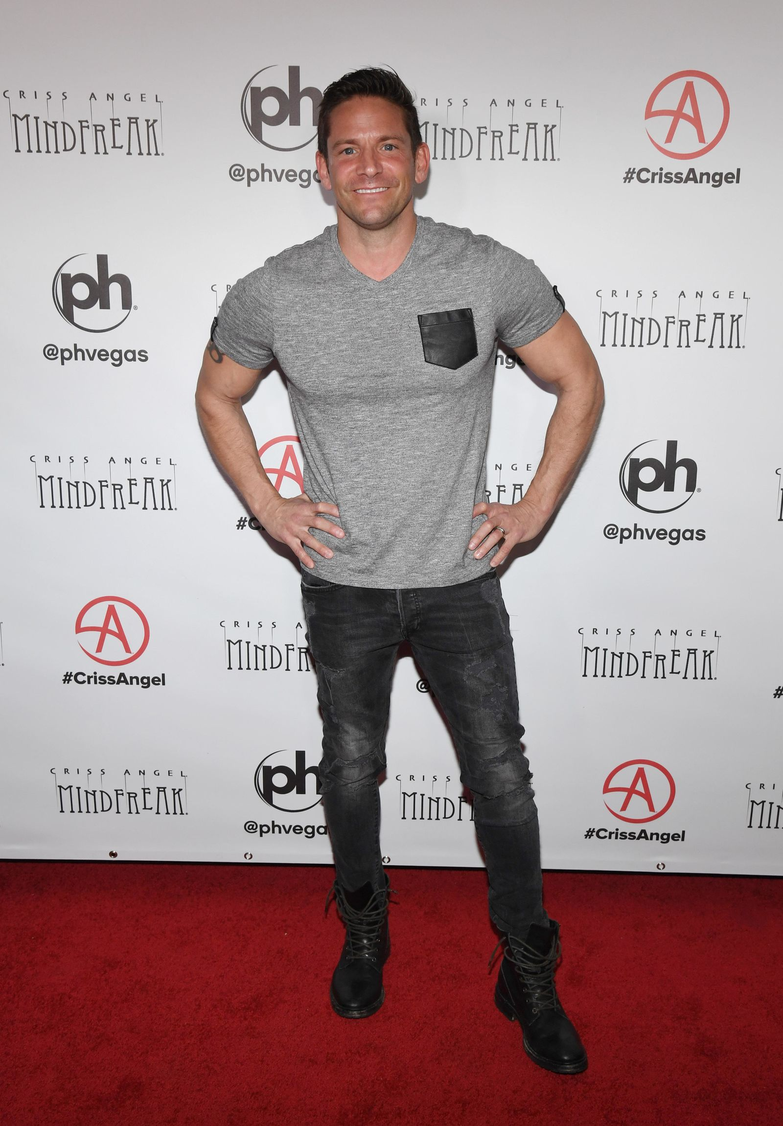 "LAS VEGAS, NEVADA - JANUARY 19:  Singer Jeff Timmons of 98 Degrees attends the grand opening of ""Criss Angel MINDFREAK"" at Planet Hollywood Resort & Casino on January 19, 2019 in Las Vegas, Nevada.  (Photo by Ethan Miller/Getty Images for Planet Hollywood Resort & Casino)"