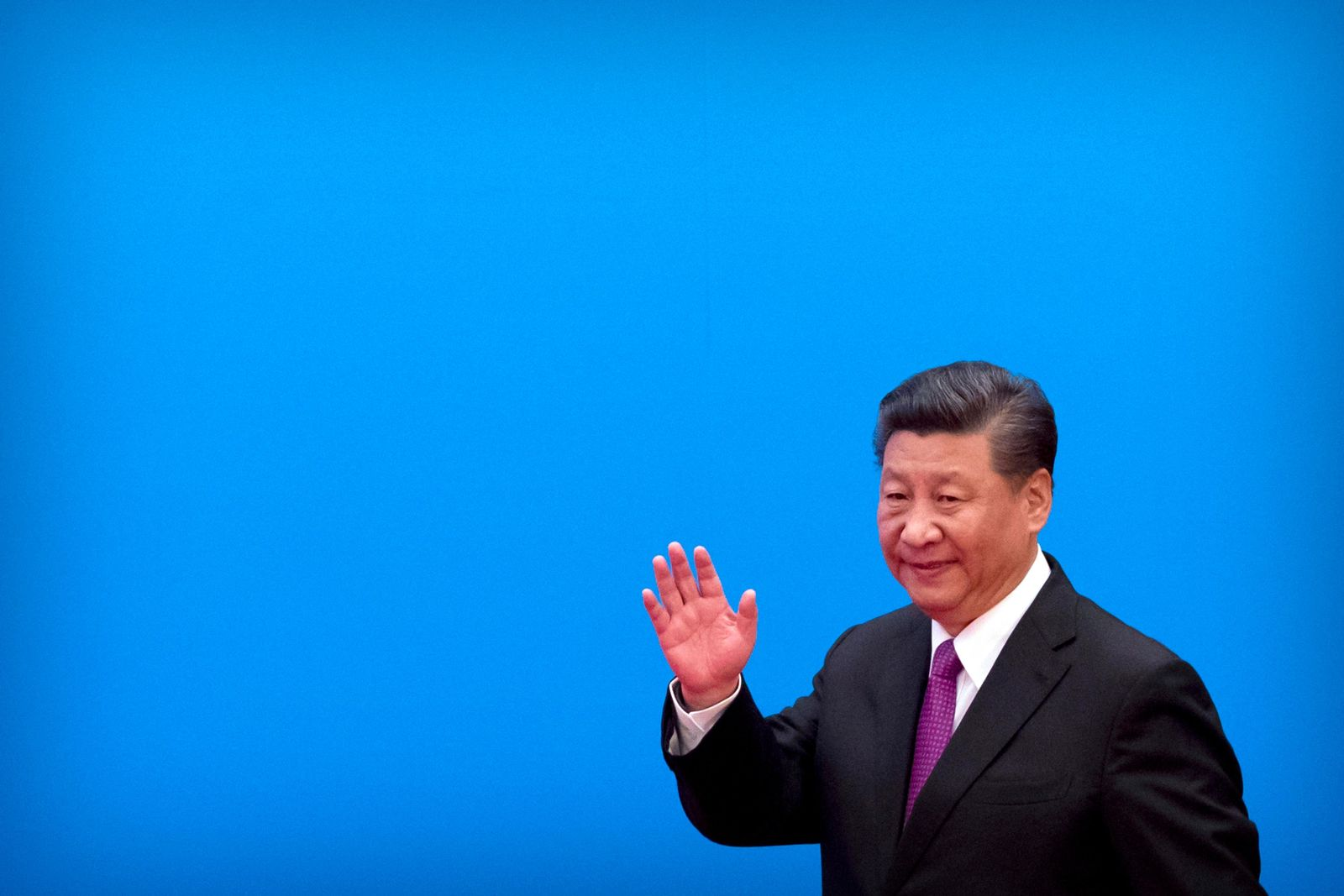 FILE - Chinese President Xi Jinping waves as he arrives for a press conference at the closing of the Belt and Road Forum at Yanqi Lake on the outskirts of Beijing, Saturday, April 27, 2019.{ } (AP Photo/Mark Schiefelbein)