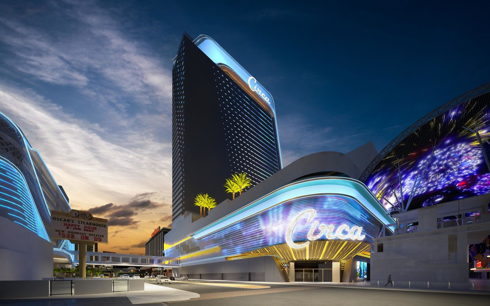 This is a rendering of Derek Stevens' new project for Fremont Street, Circa Resort & Casino, released Thursday, Jan 10, 2019 (Rendering courtesy of Circa)