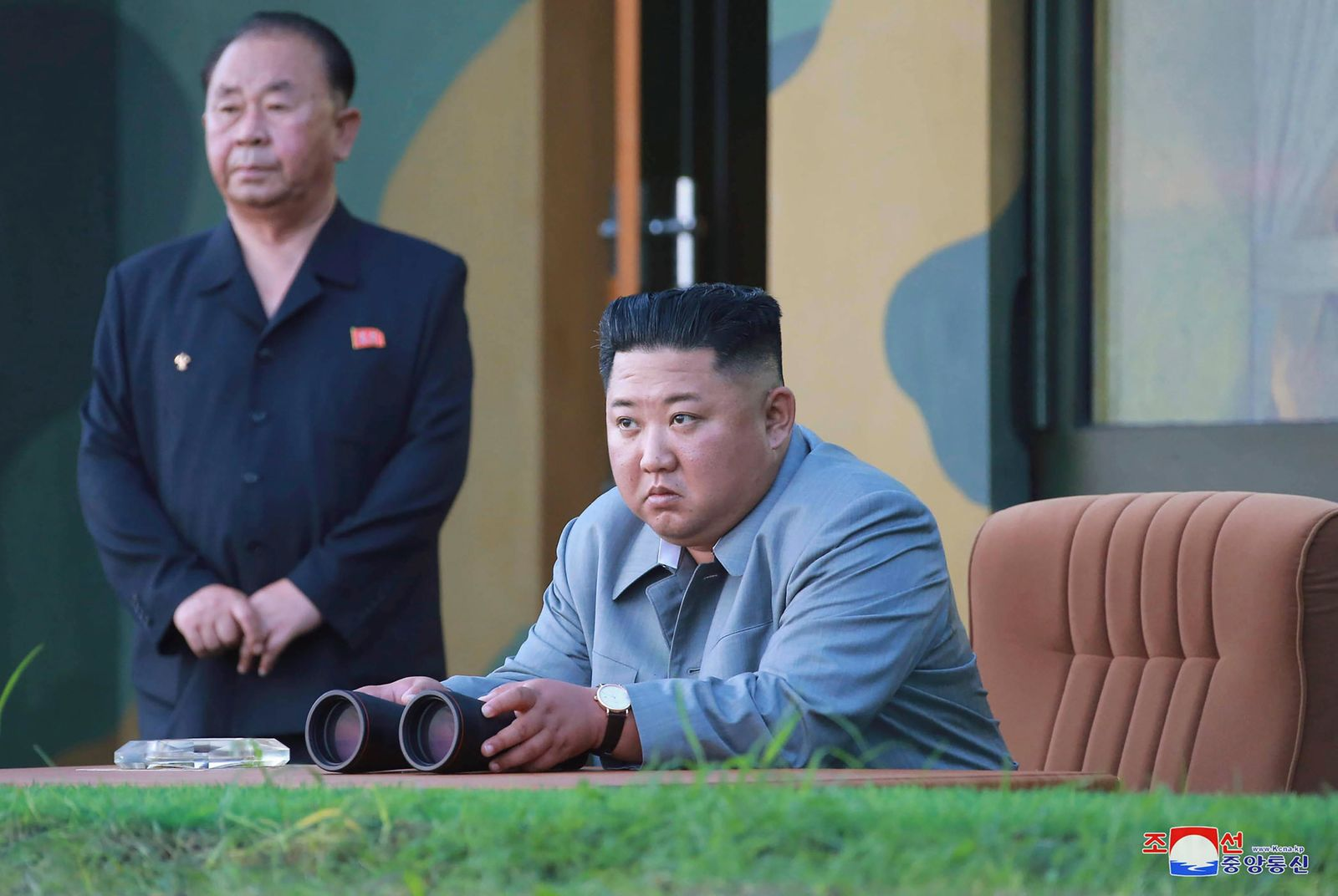 FILE - In this July 25, 2019, photo provided on Friday, July 26, 2019, by the North Korean government, North Korean leader Kim Jong Un watches a missile test in North Korea.  South Korea's military said Friday, Aug. 16, North Korea fired more projectiles into the sea to extend a recent streak of weapons tests believed to be aimed at pressuring Washington and Seoul over slow nuclear diplomacy.(Korean Central News Agency/Korea News Service via AP, File)