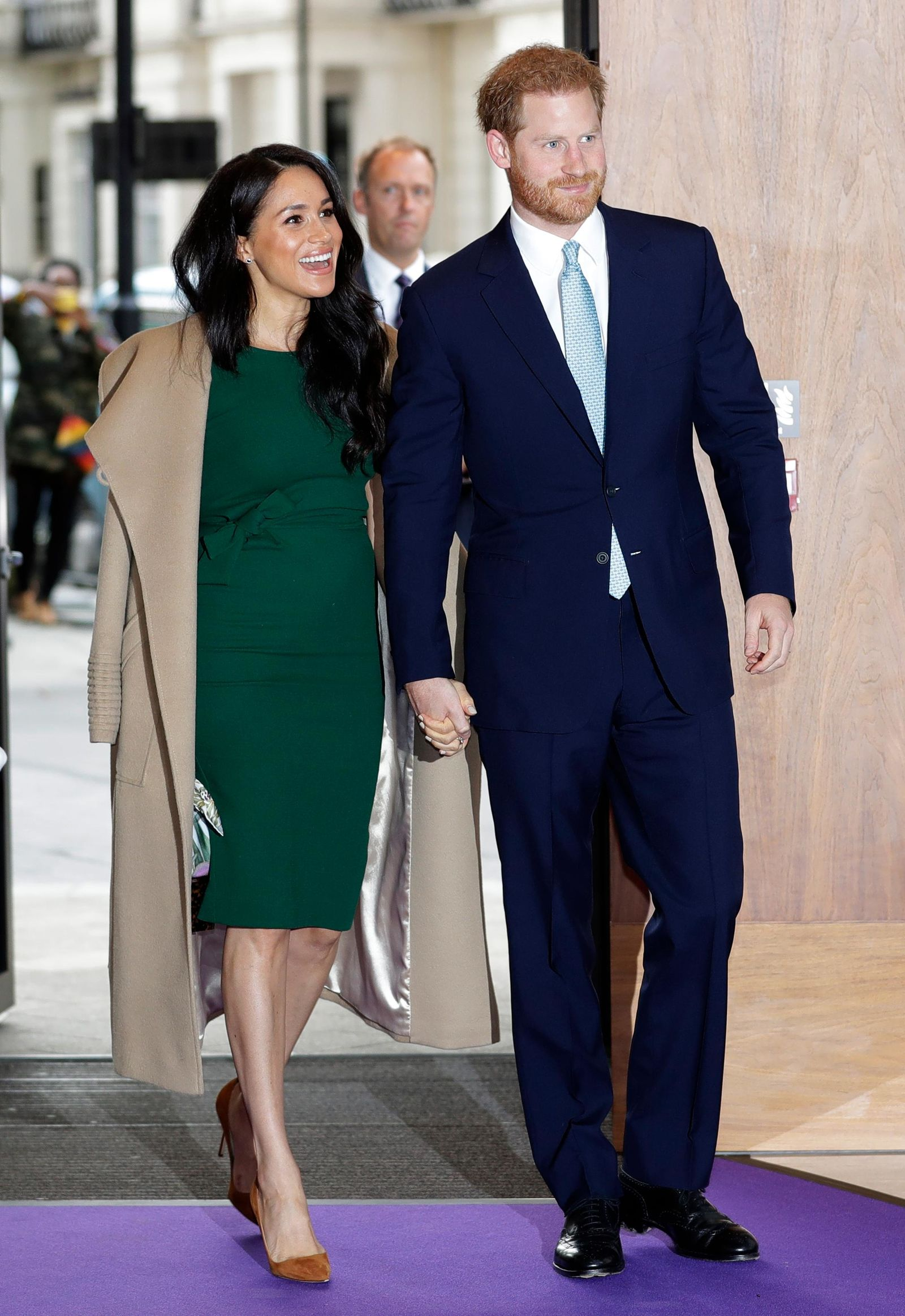 Britain's Prince Harry and Meghan, the Duke and Duchess of Sussex arrive to attend the WellChild Awards Ceremony in London, Tuesday, Oct. 15, 2019.{ } (AP Photo/Kirsty Wigglesworth)
