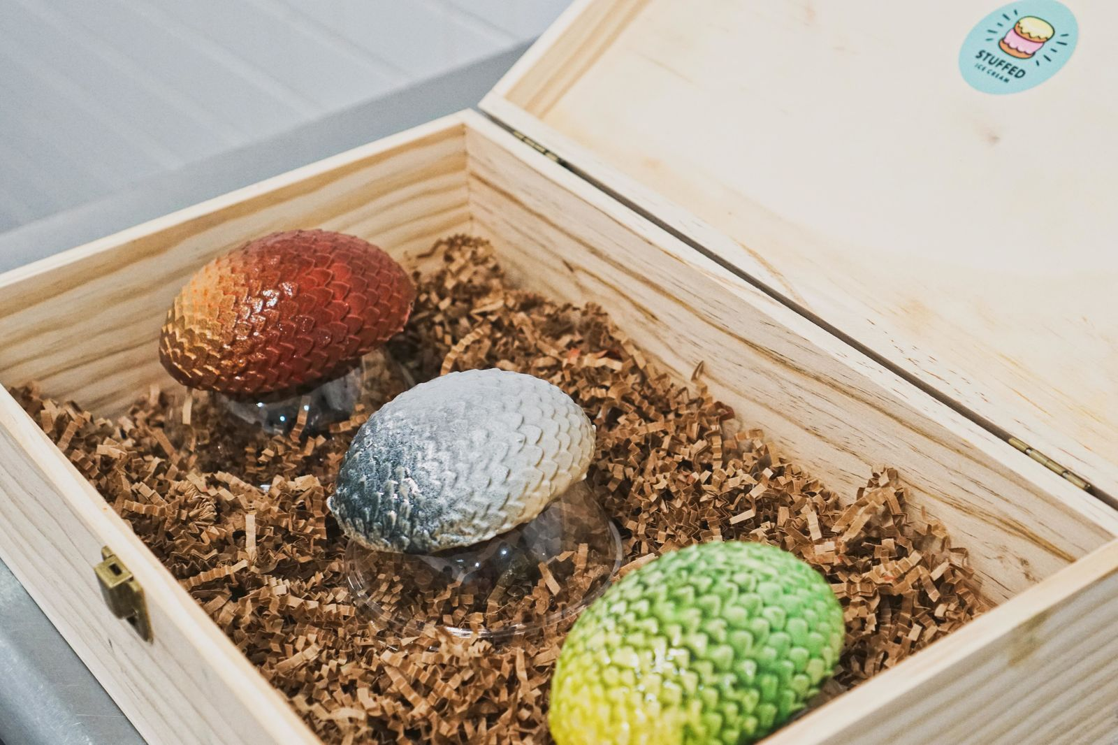 A set of all three dragon eggs at Stuffed Ice Cream costs $35. (Photo: Emily Faber, Sinclair Broadcast Group)