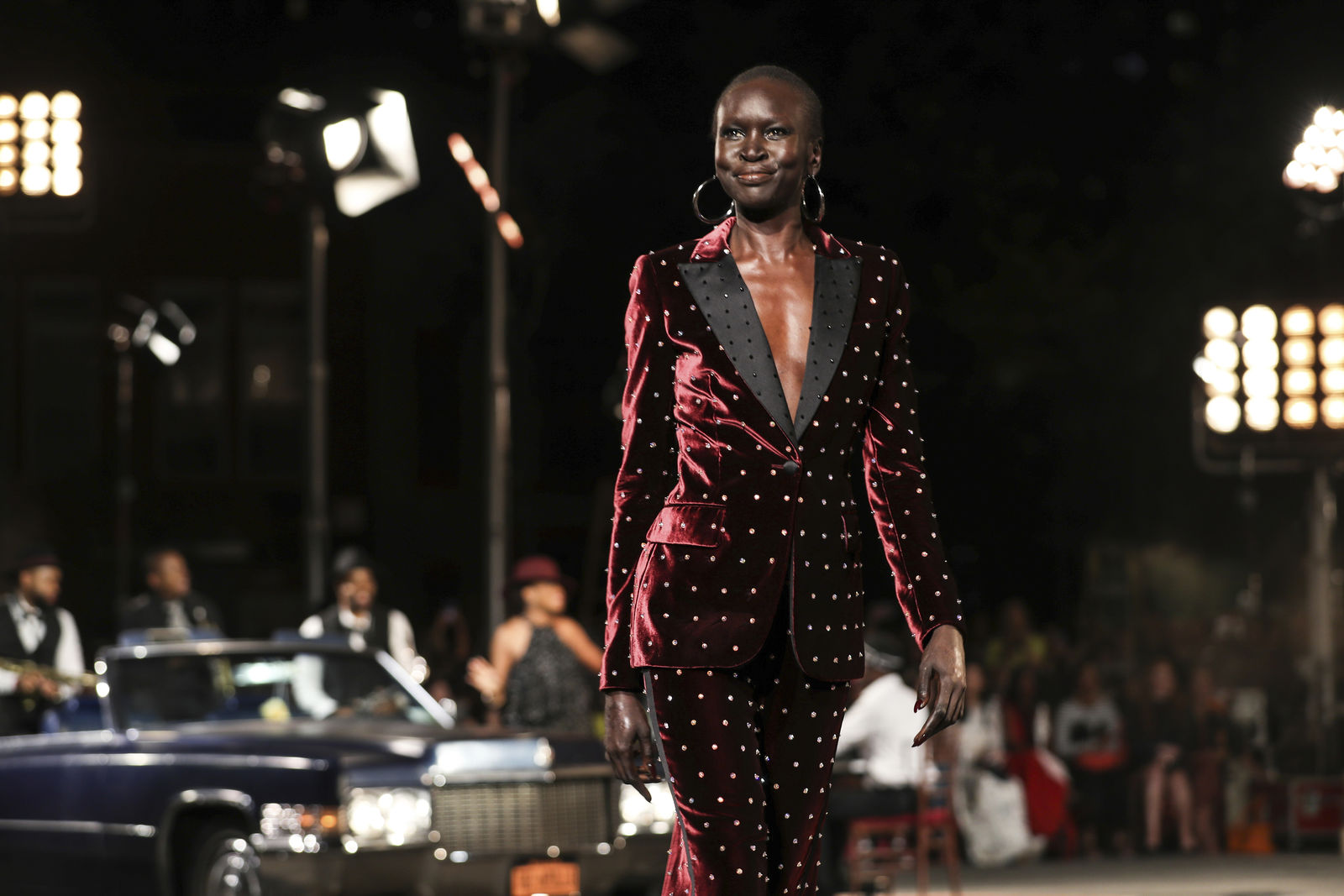 The Tommy Hilfiger collection is modeled during Fashion Week in New York, Sunday, Sept. 8, 2019. (AP Photo/Jeenah Moon)