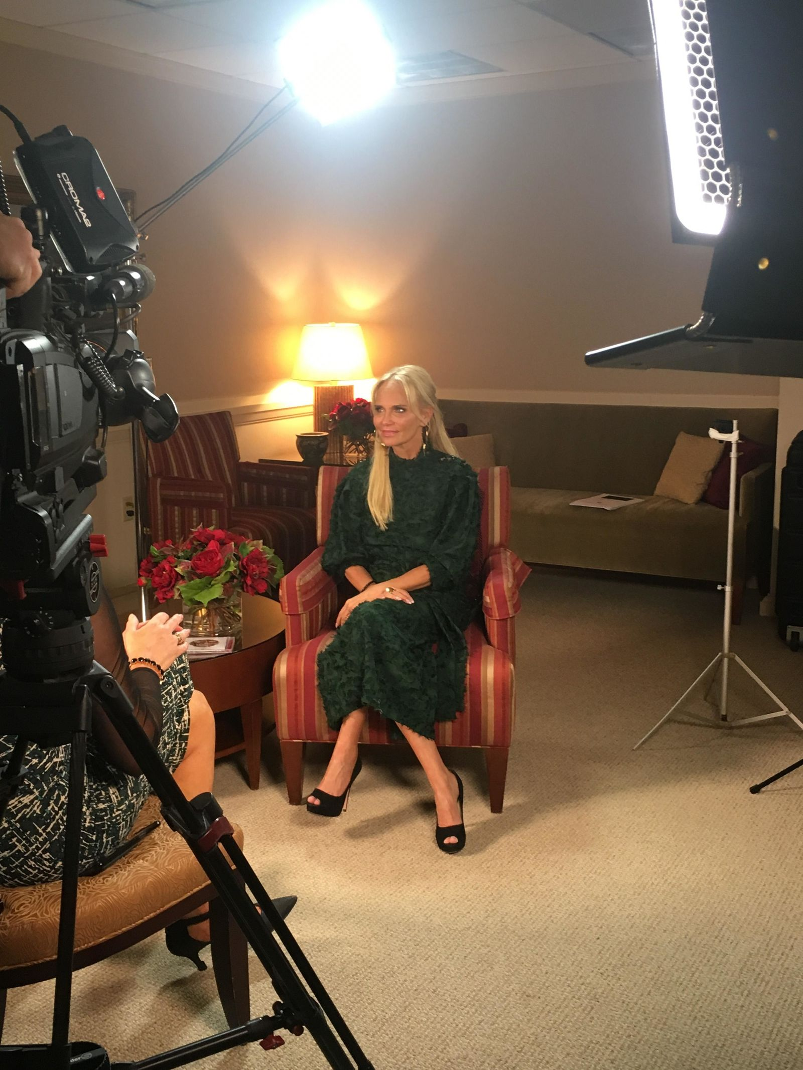 "<p>Kristin Chenoweth's new album with Tabernacle Choir at Temple Square, ""Angels Among Us,"" was released today, and Chenoweth came back to Utah to talk about her experiences with the choir. (Photo: KUTV)<br></p>"