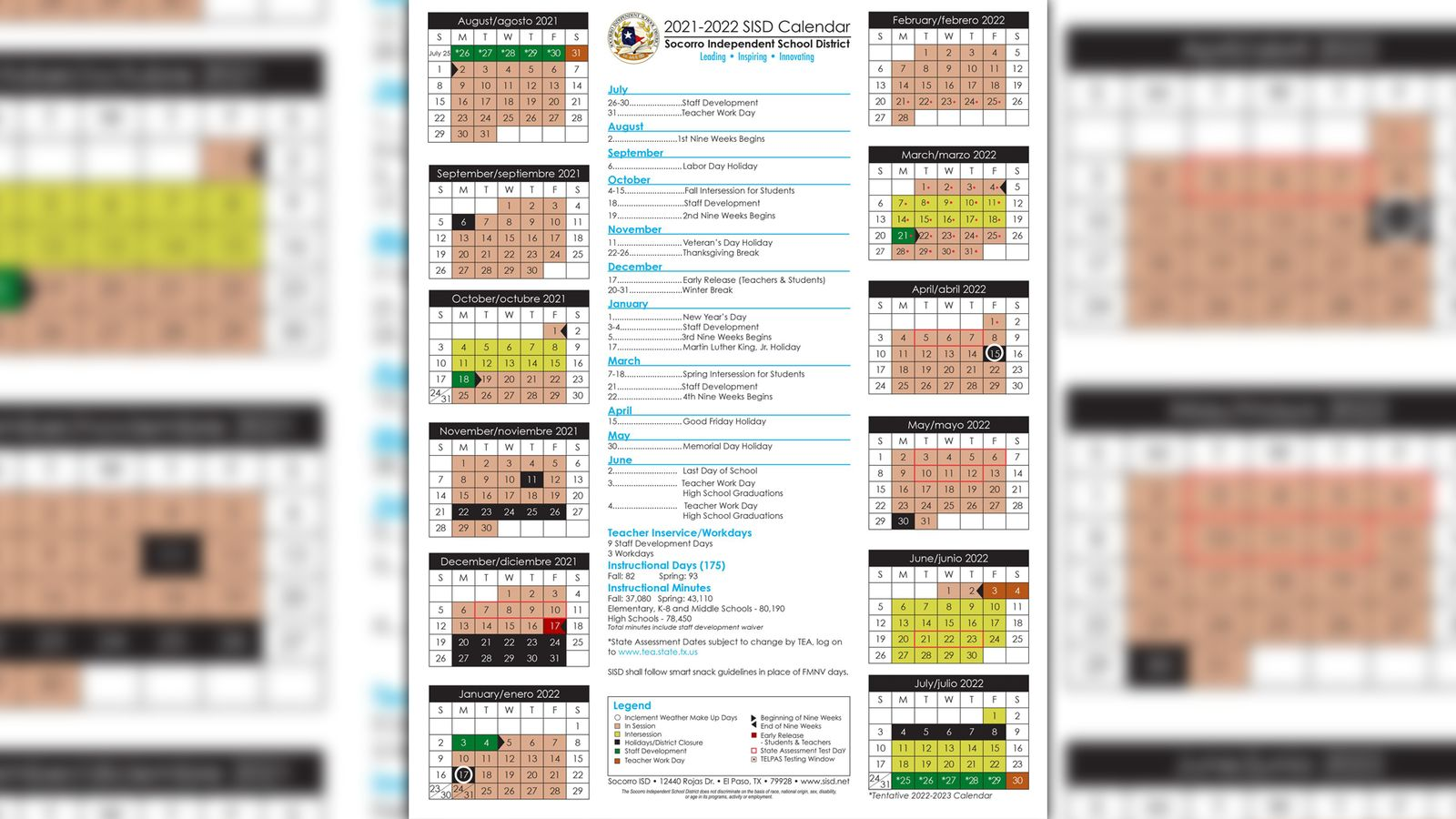 Sisd Calendar 2022 2023.S I S D 2 0 2 1 2 0 2 2 C A L E N D A R Zonealarm Results