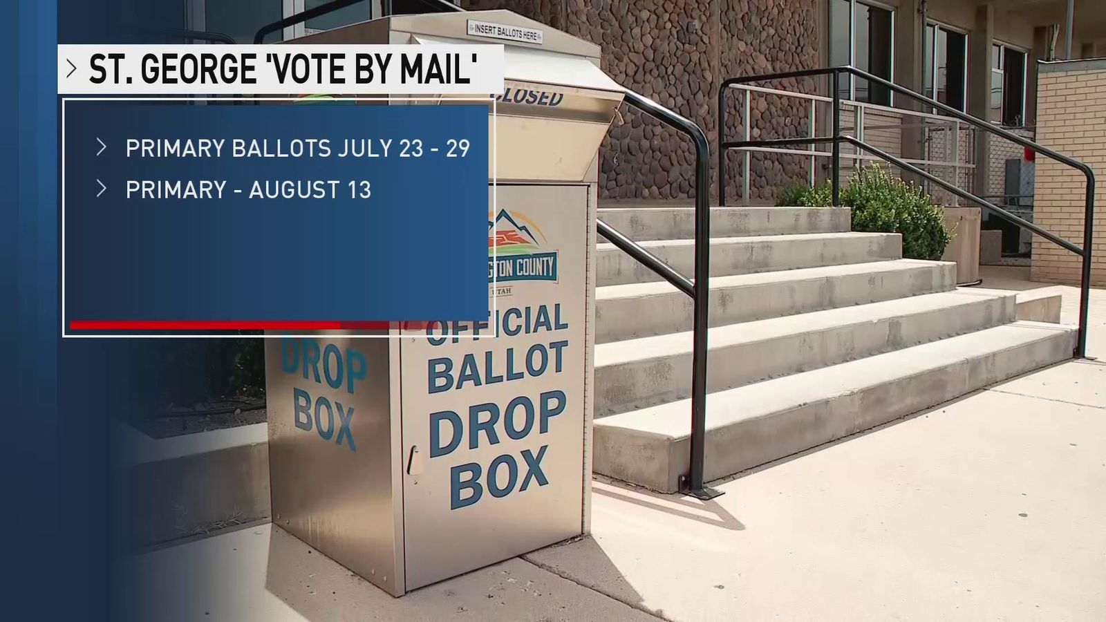 St. George is conducting its general election in a vote-by-mail process for three city council seats. (File photo: KUTV)<p></p>