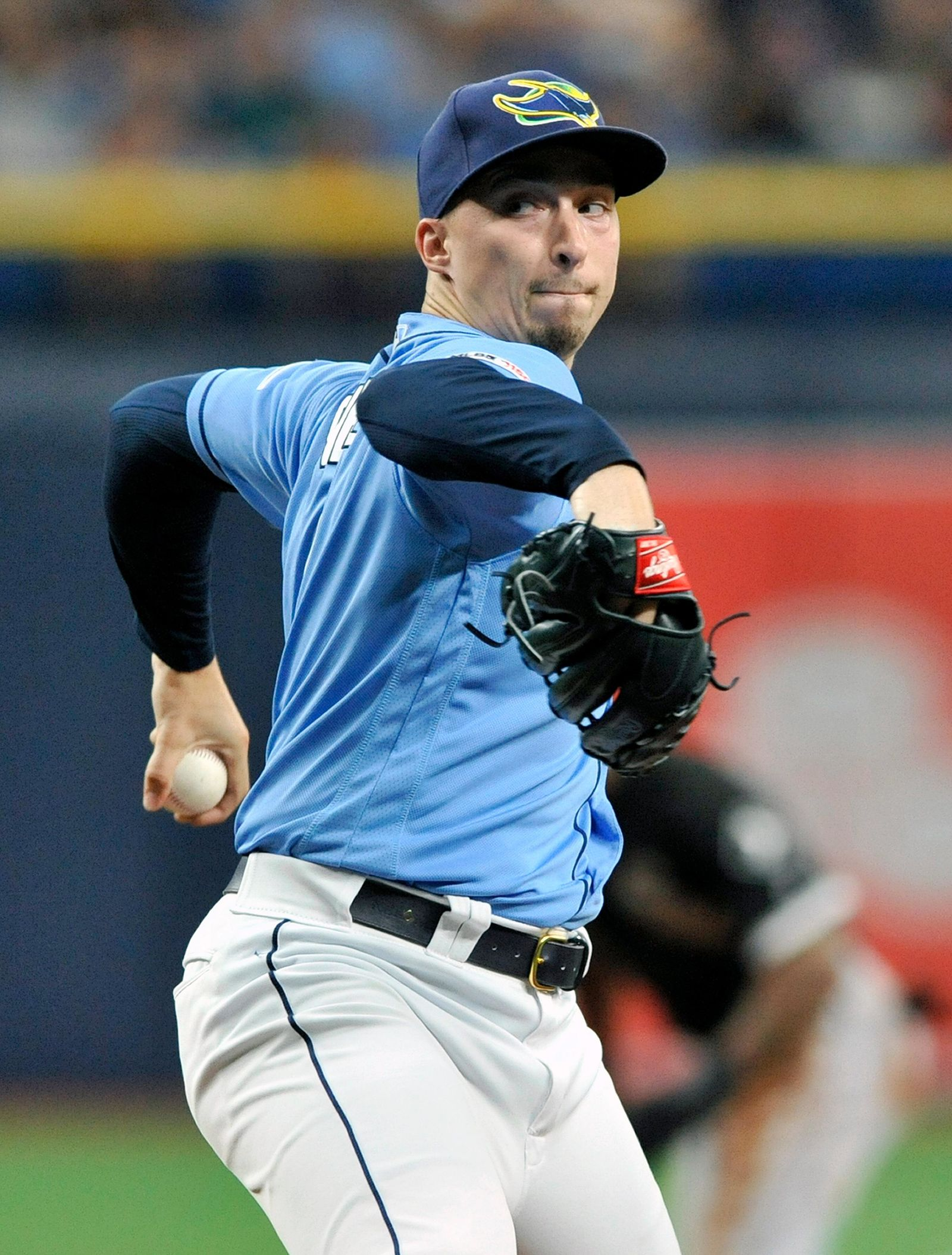 Tampa Bay Rays starter Blake Snell pitches against the Chicago White Sox during the first inning of a baseball game Sunday, July 21, 2019, in St. Petersburg, Fla. (AP Photo/Steve Nesius)