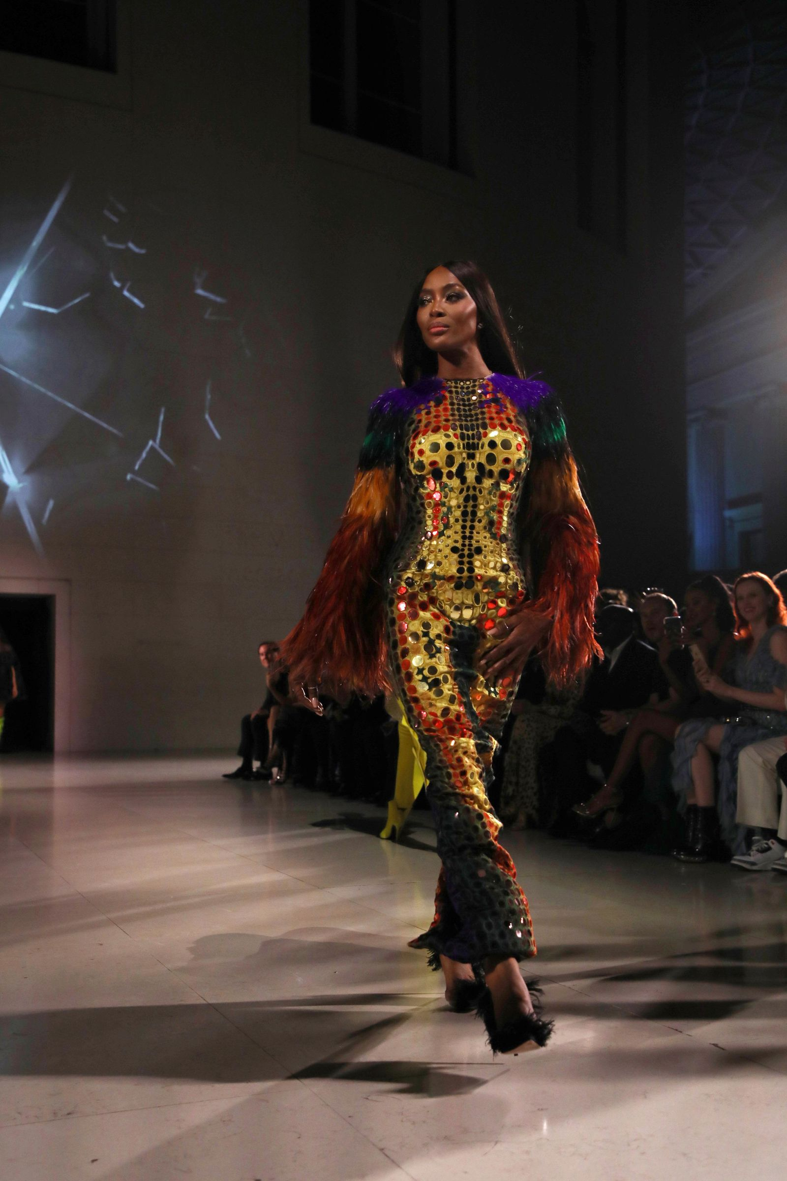 Model Naomi Campbell walks the runway at the Fashion For Relief charity event in central London, Saturday, Sept. 14, 2019. (Photo by Vianney Le Caer/Invision/AP)