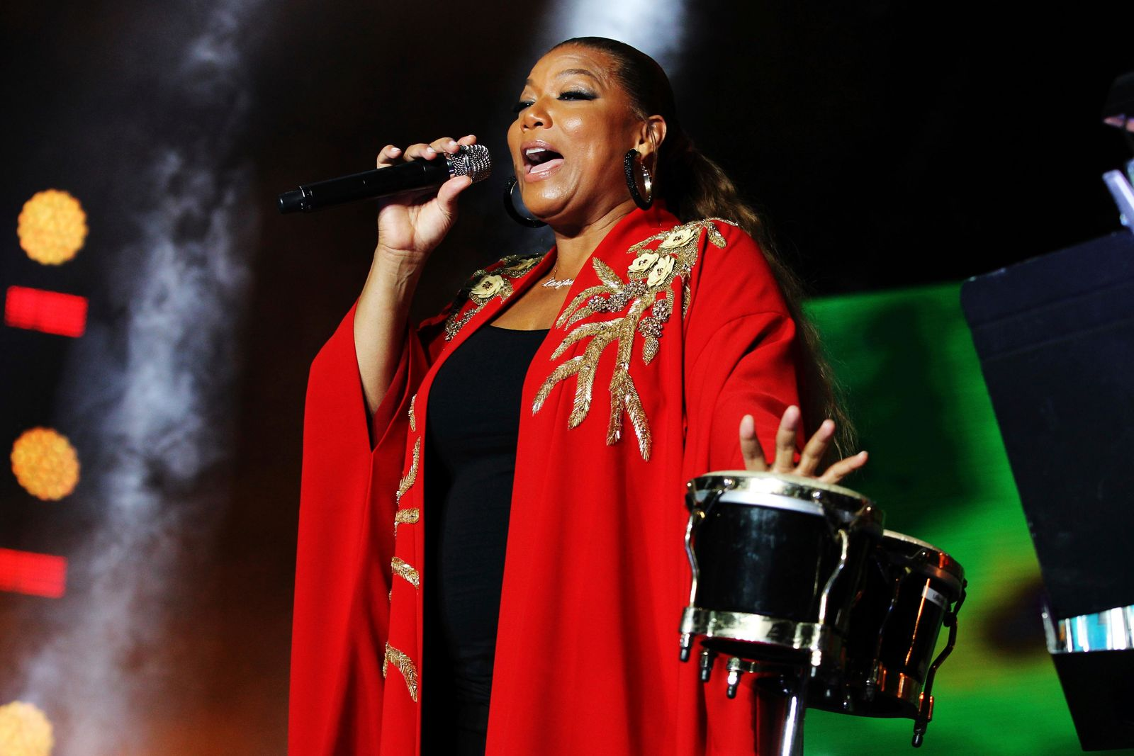 Queen Latifah performs at the 2018 Essence Festival at the Mercedes-Benz Superdome on Saturday, July 7, 2018, in New Orleans. (Photo by Donald Traill/Invision/AP)