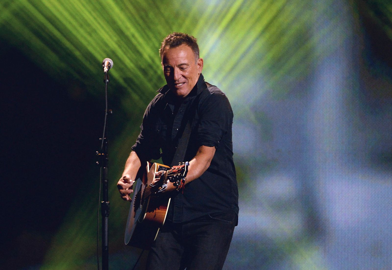 FILE - In this Sept. 30, 2017 file photo, Bruce Springsteen performs during the closing ceremonies of the Invictus Games in Toronto. (Nathan Denette/The Canadian Press via AP, File)
