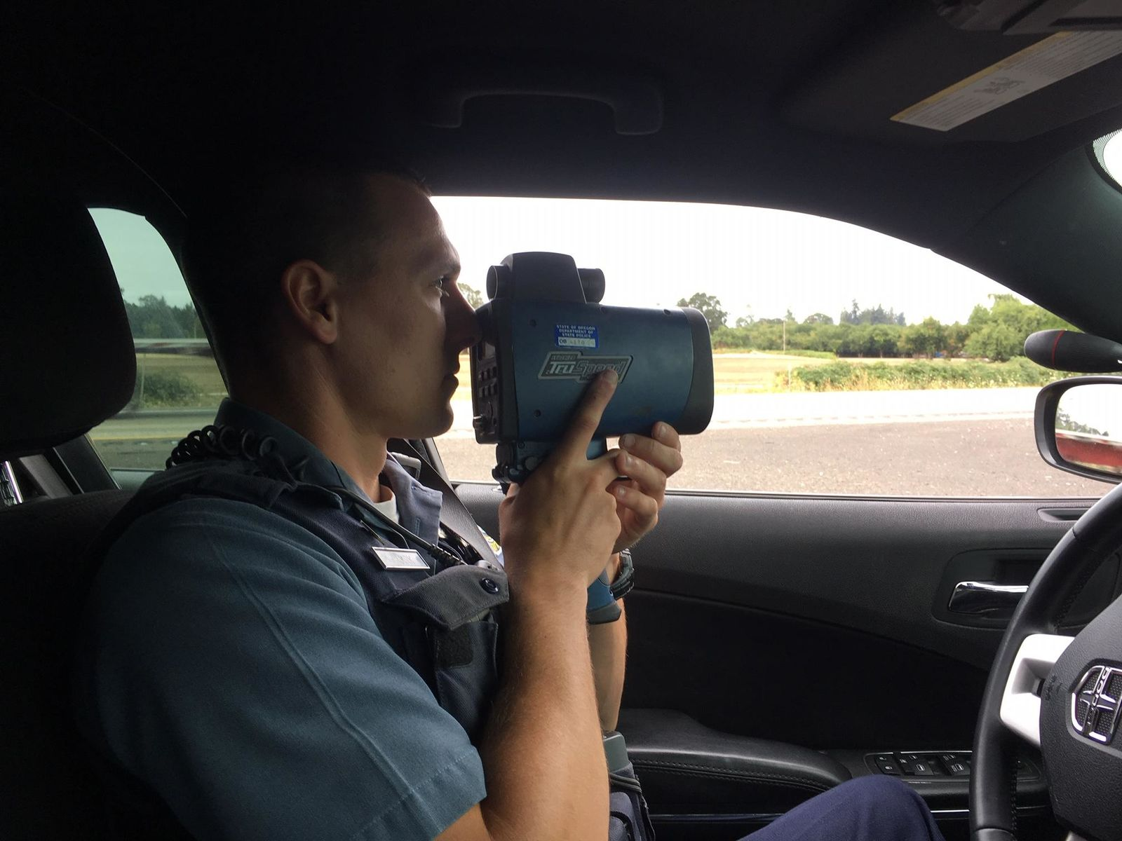"""You can drive for a ways on I-5 and not see a trooper depending on how busy we are,"" Trooper Zach Clark said. ""The more troopers you see on the highway the less likely you are to text and drive, drive impaired, speed."" (SBG)"