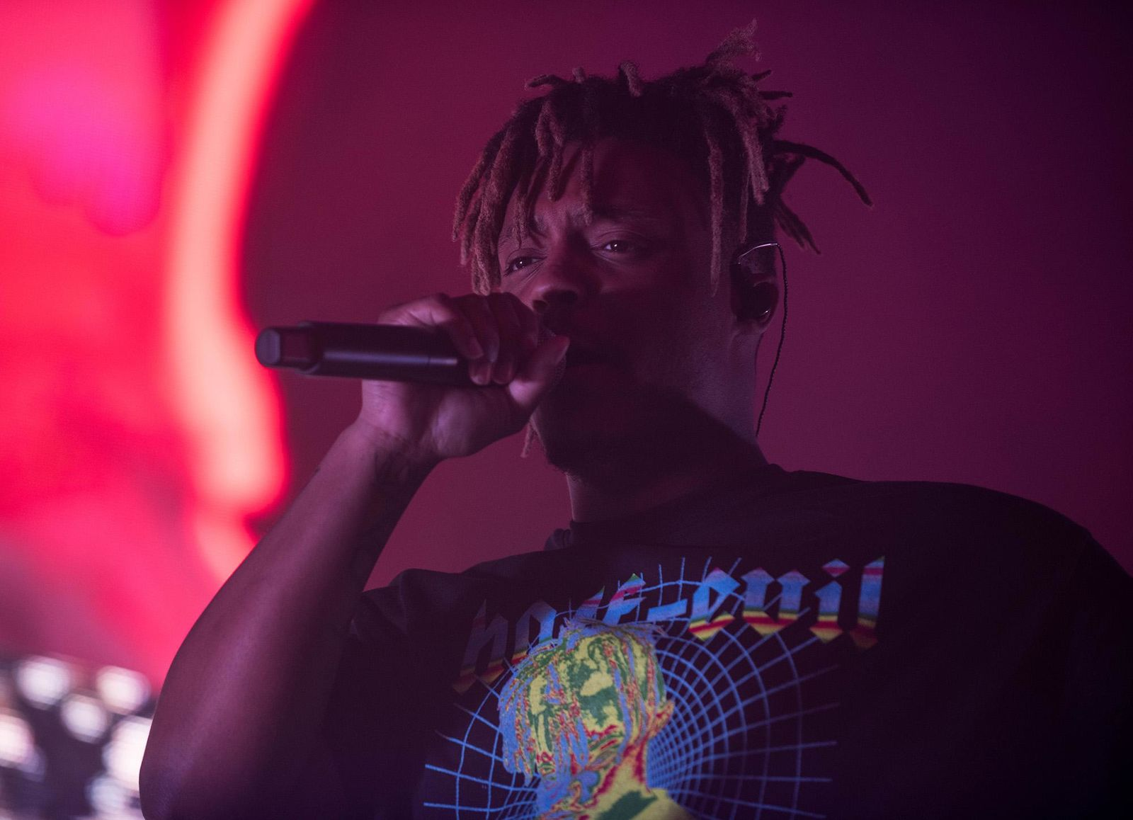 "Juice WRLD filled Portland's Veterans Memorial Coliseum on Friday night as fans lit up the arena for his  ""Death Race For Love"" Tour. (Photo by Tristan Fortsch on April 26, 2019)"