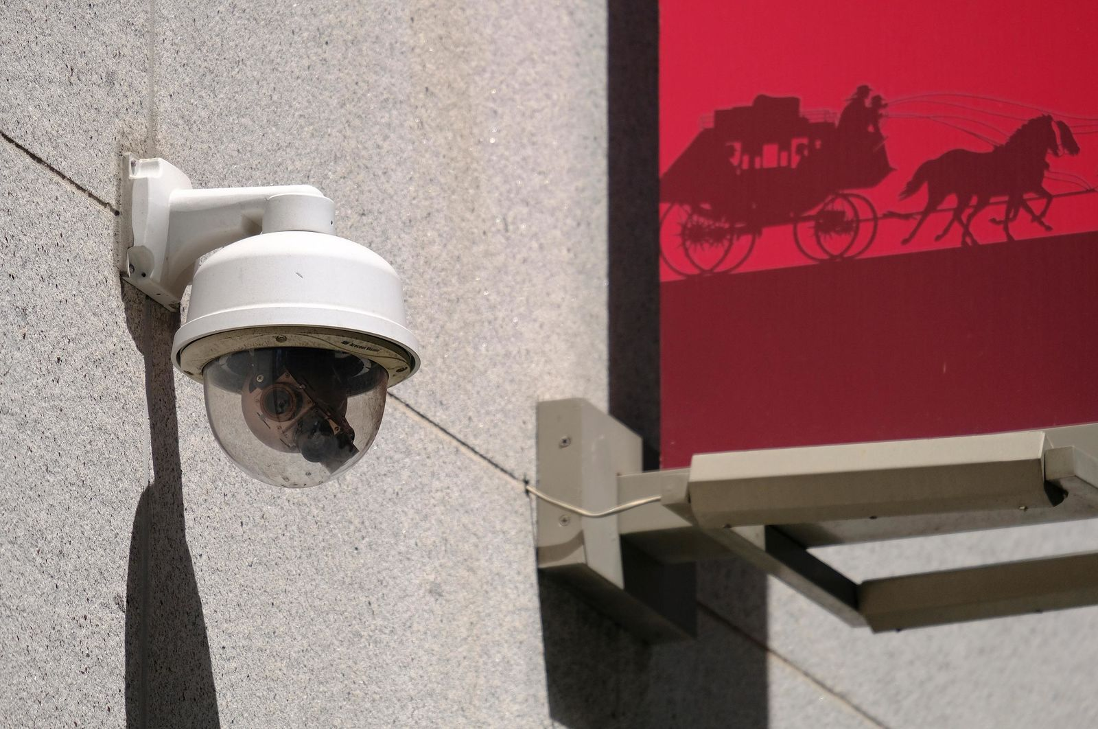 This photo taken Tuesday, May 7, 2019, shows a security camera in the Financial District of San Francisco. San Francisco is on track to become the first U.S. city to ban the use of facial recognition by police and other city agencies as the technology creeps increasingly into daily life. (AP Photo/Eric Risberg)