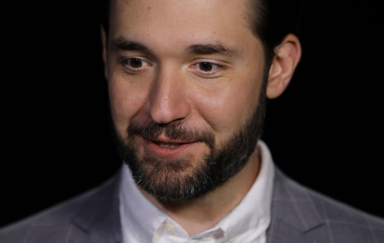 In this Tuesday Feb. 19, 2019, photo Alexis Ohanian, founder of the social media company Reddit, speaks during an interview in New York.{ } (AP Photo/Bebeto Matthews)