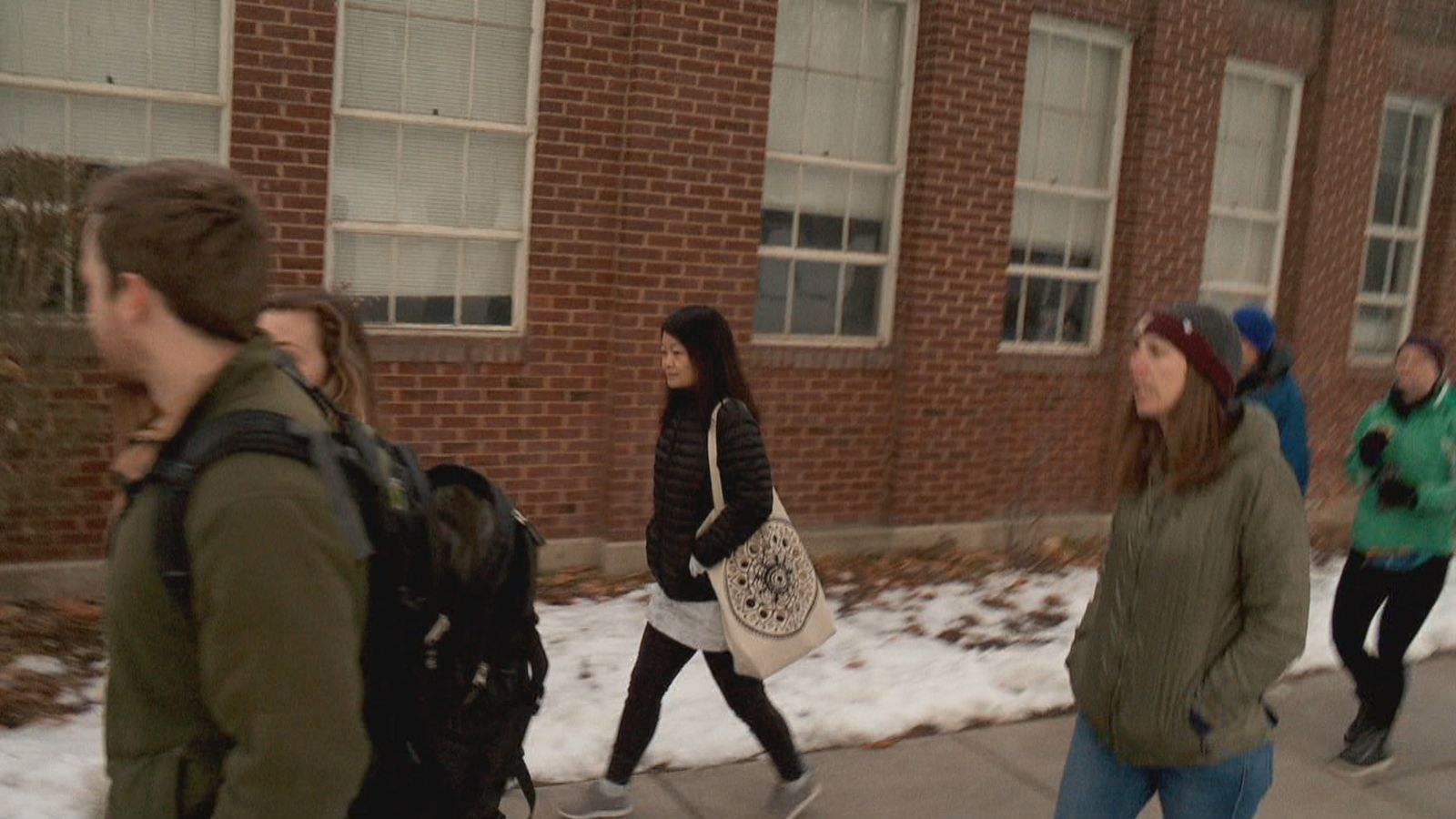 Approximately 100 people, mostly students and staff, marched through the campus of Westminster College and the Sugar House neighborhood on the morning of Martin Luther King, Jr. Day. (Photo: KUTV)