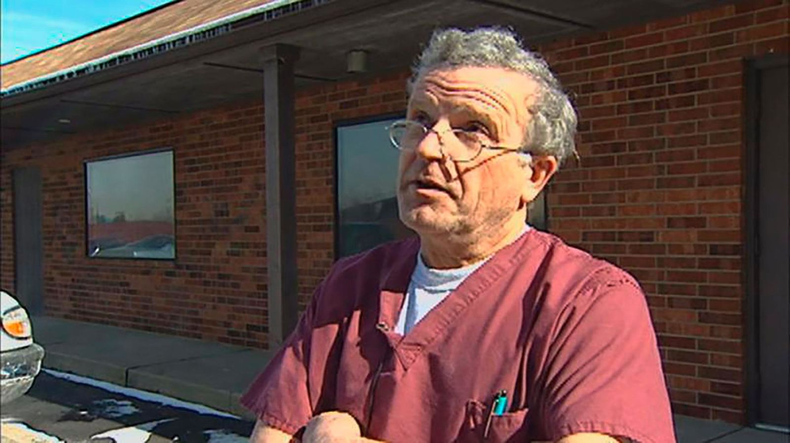 FILE - This image made from a Dec. 1, 2015, video provided by WNDU-TV shows Ulrich Klopfer in South Bend, Ind. Officials whose offices are investigating the discovery of more than 2,200 medically preserved fetal remains at an Illinois house of Dr. Klopfer who performed abortions for decades in Indiana will hold a press conference on Thursday, Sept. 19, 2019, to discuss the case. Klopfer died earlier this month. (WNDU-TV via AP, File)