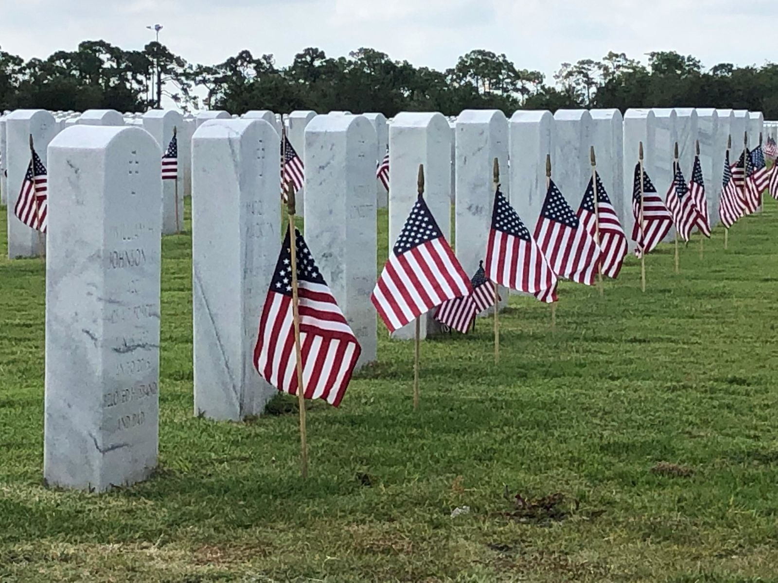 Flags planted at South Florida National Cemetery (WPEC)