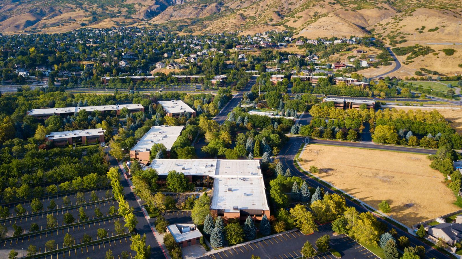 A Utah office park that was built by the company credited with launching the state's tech industry has undergone an $8.6 million revitalization project. (Photo courtesy of CanyonPark.com)