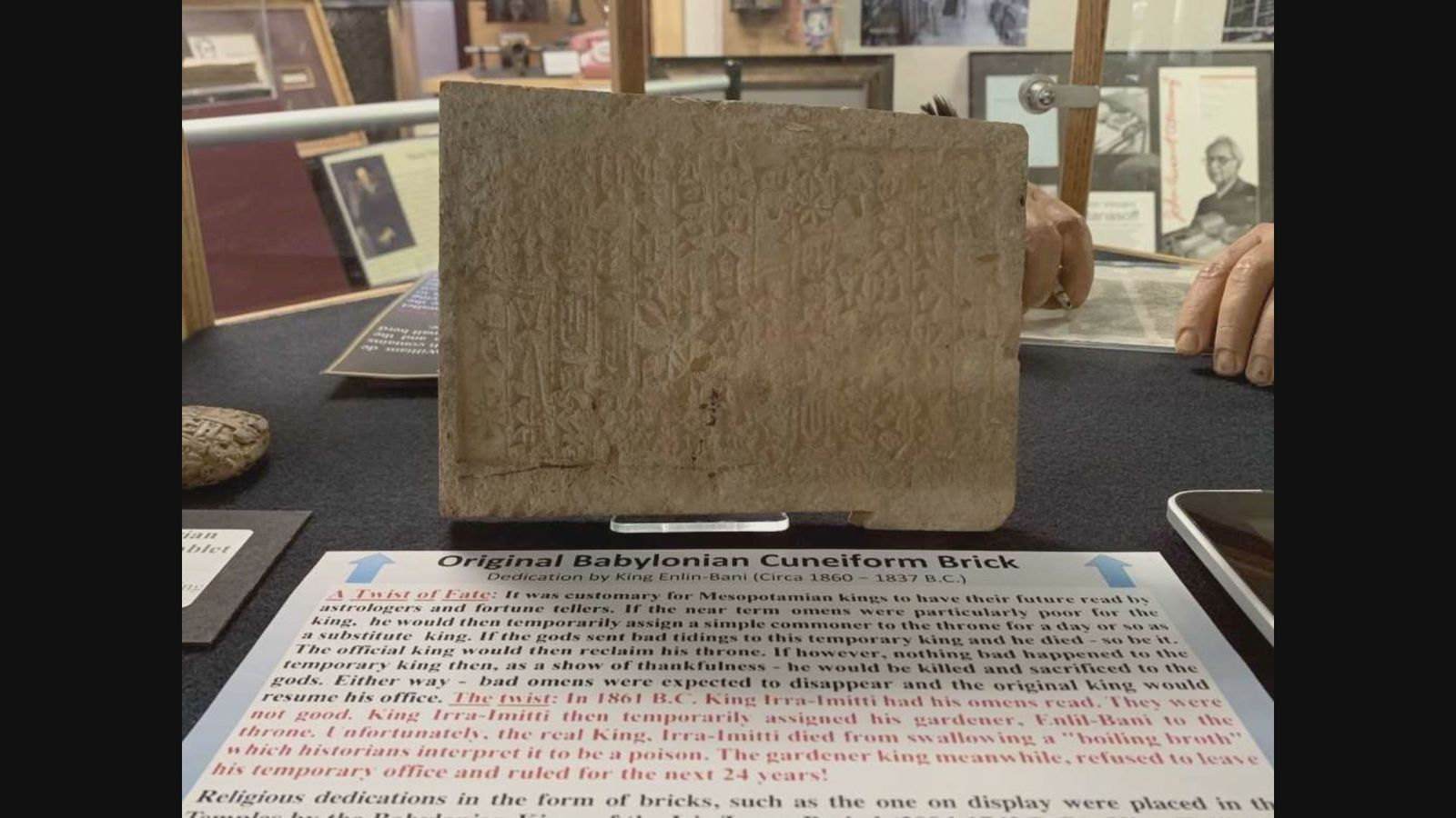 (photo courtesy: American Computer and Robotics Museum)An original Babylonian tablet dating back 4,000 years ago.