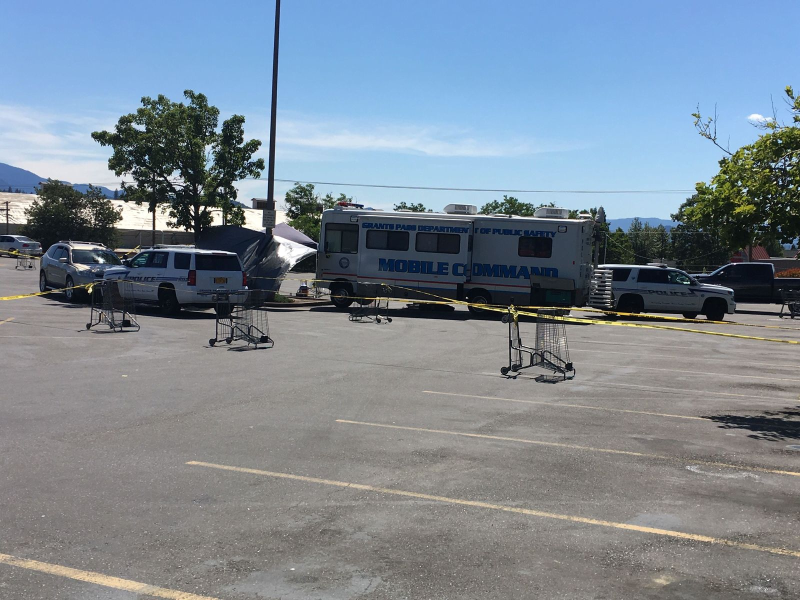Pictured is the active scene at a Grants Pass Fred Meyer (News 10)