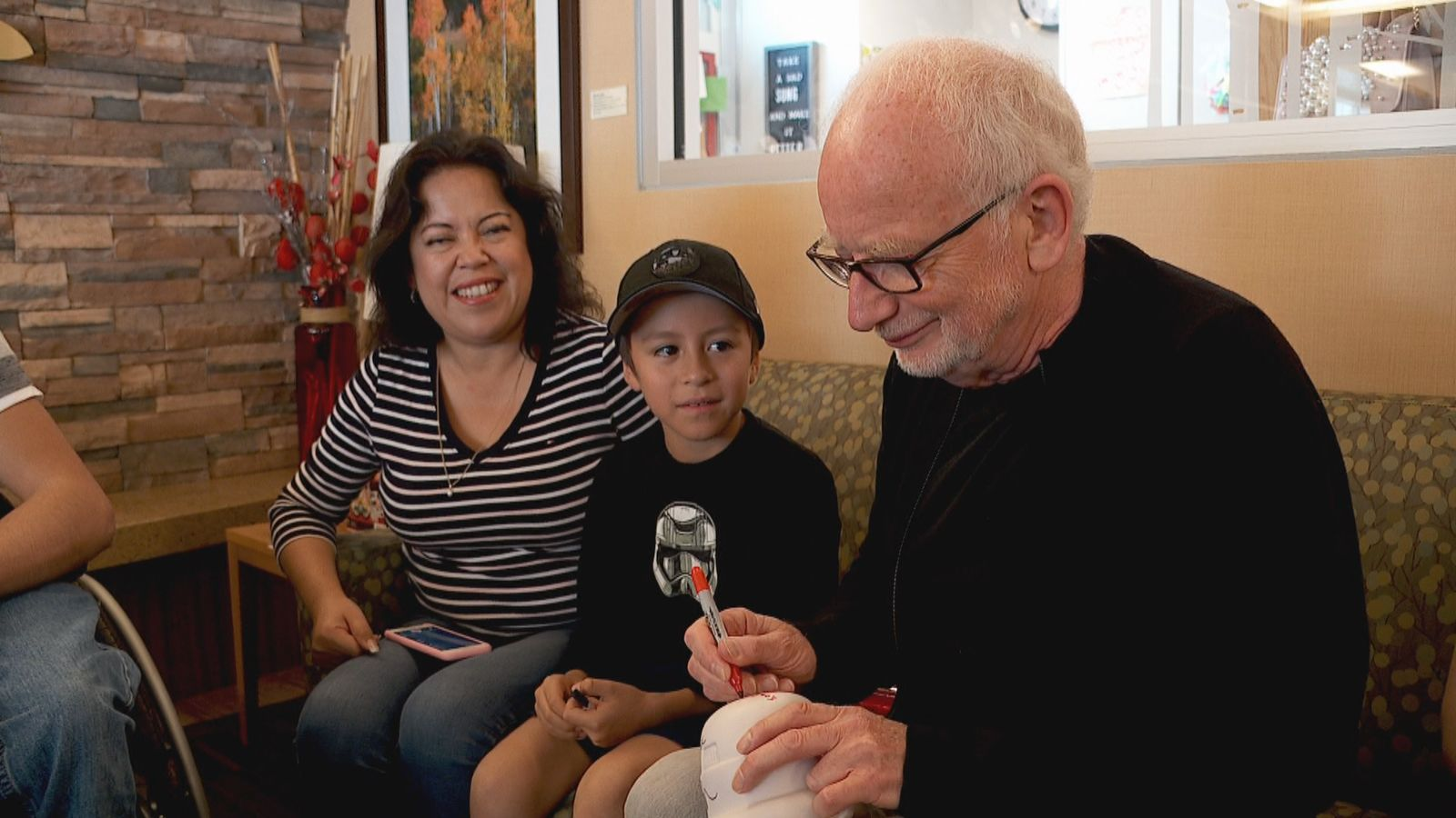 Actors Ian McDiarmid (Emperor Palpatine) and Hayden Christensen (Anakin Skywalker/Darth Vader) of Star Wars fame visit with kids and their families at Primary Children's Hospital in Salt Lake City, Utah on September 5. 2019. (Photo: KUTV)