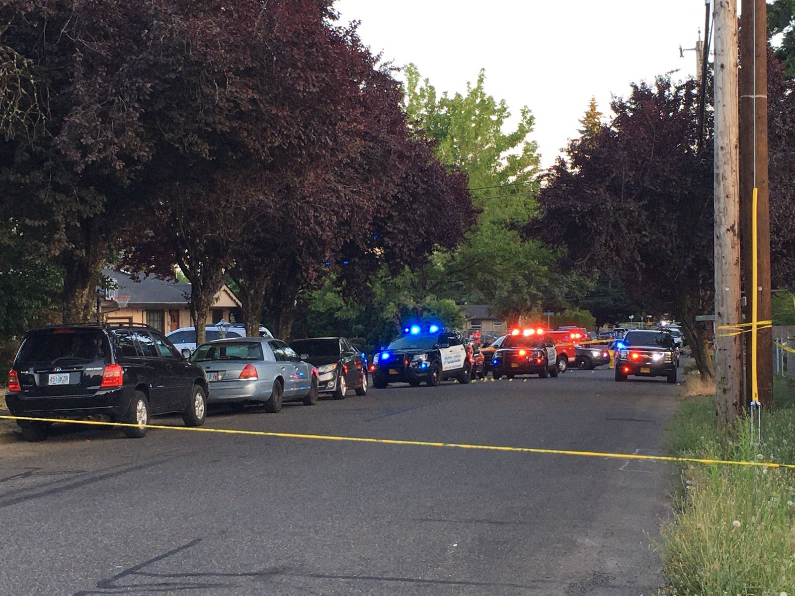 Police in Gresham investigate a shooting Wednesday night, Aug. 5, 2020 that left two children wounded. (Photo: Monty Orrick/KATU Staff)