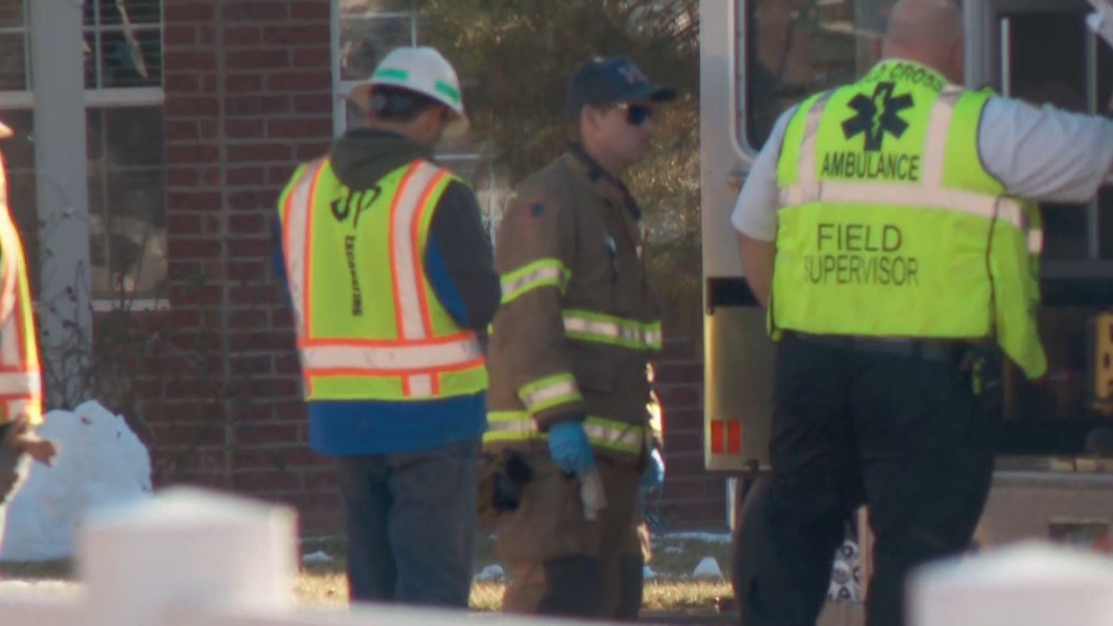 First responders pulled a man from the site of an industrial accident in St. George Monday afternoon. (Photo: Ben Pollchik / KUTV)