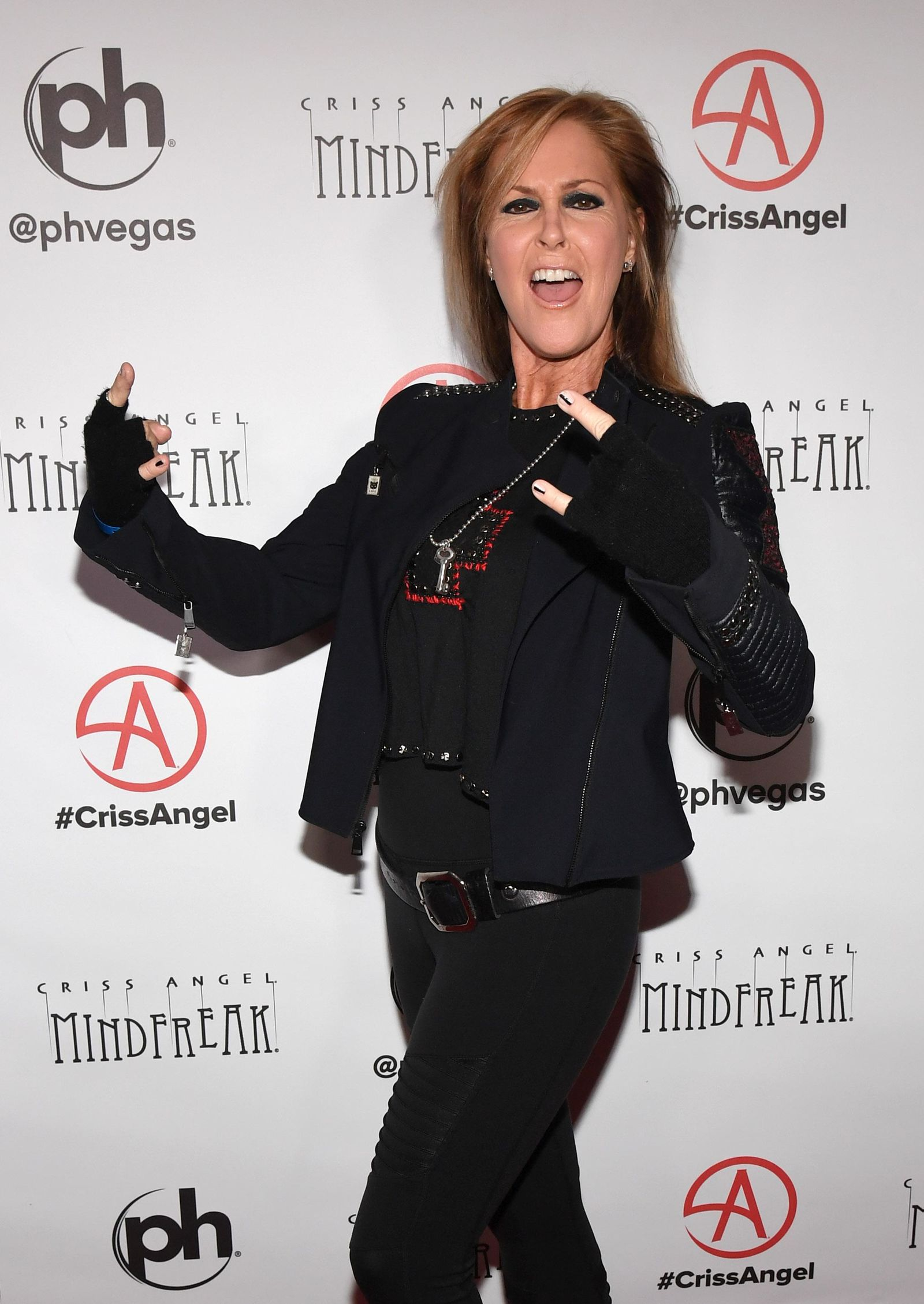 "LAS VEGAS, NEVADA - JANUARY 19:  Recording artist Lita Ford attends the grand opening of ""Criss Angel MINDFREAK"" at Planet Hollywood Resort & Casino on January 19, 2019 in Las Vegas, Nevada.  (Photo by Ethan Miller/Getty Images for Planet Hollywood Resort & Casino)"