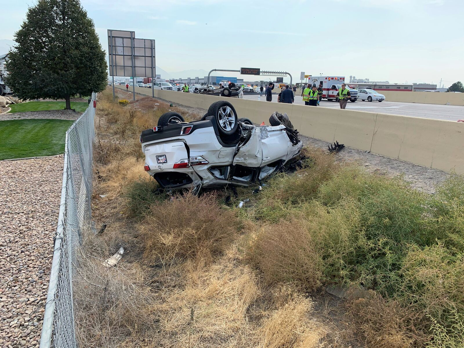 A Utah County woman who survived a horrific crash that shut down Interstate 15 for several hours earlier this month says the accident should have never happened. (Photo: Heather J.)