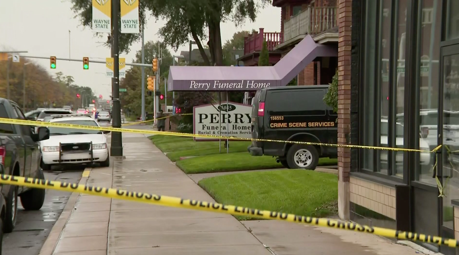 Detroit police found 36 fetuses in boxes and 27 others in freezers during Friday's raid at the Perry Funeral Home. (Photo: CNN Newsource)
