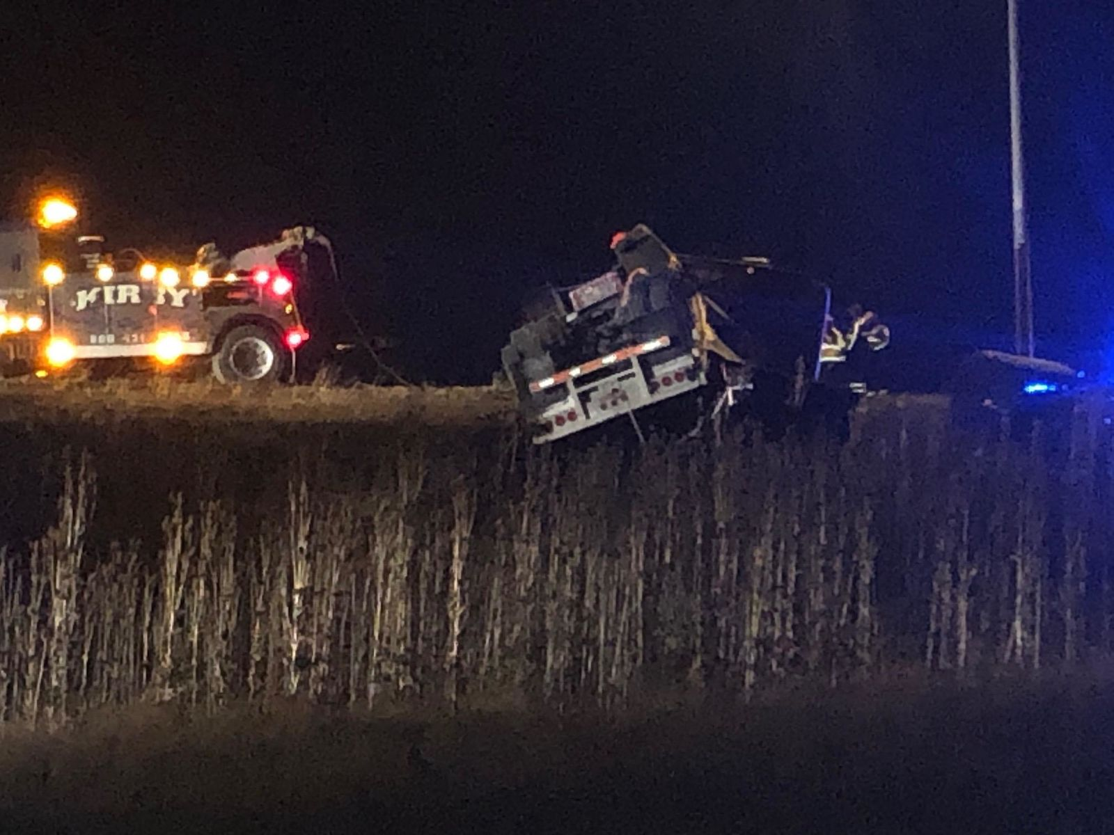A semi driver was taken to the hospital after a crash on U.S. 33 near Marysville Friday morning Oct. 18, 2019. (WSYX/WTTE)