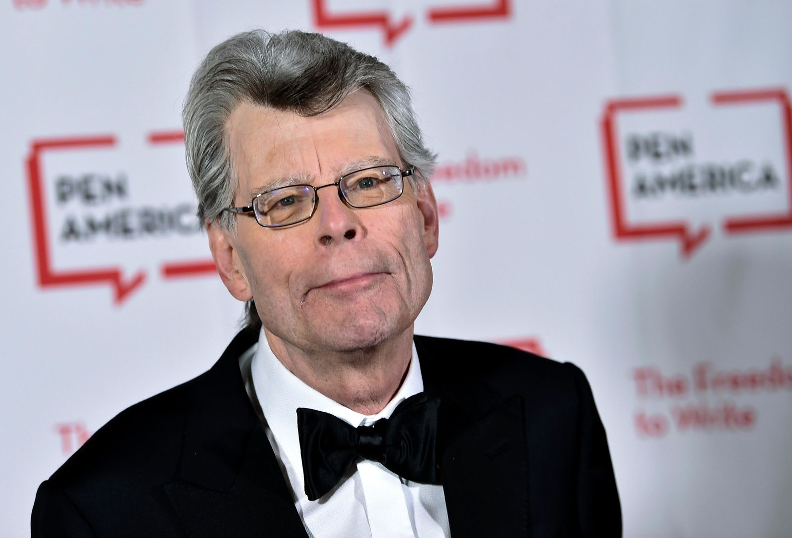 "FILE - In this May 22, 2018 file photo, author Stephen King attends the 2018 PEN Literary Gala at the American Museum of Natural History in New York. The film ""It: Chapter Two,"" is based on King's book. (Photo by Evan Agostini/Invision/AP, File)"