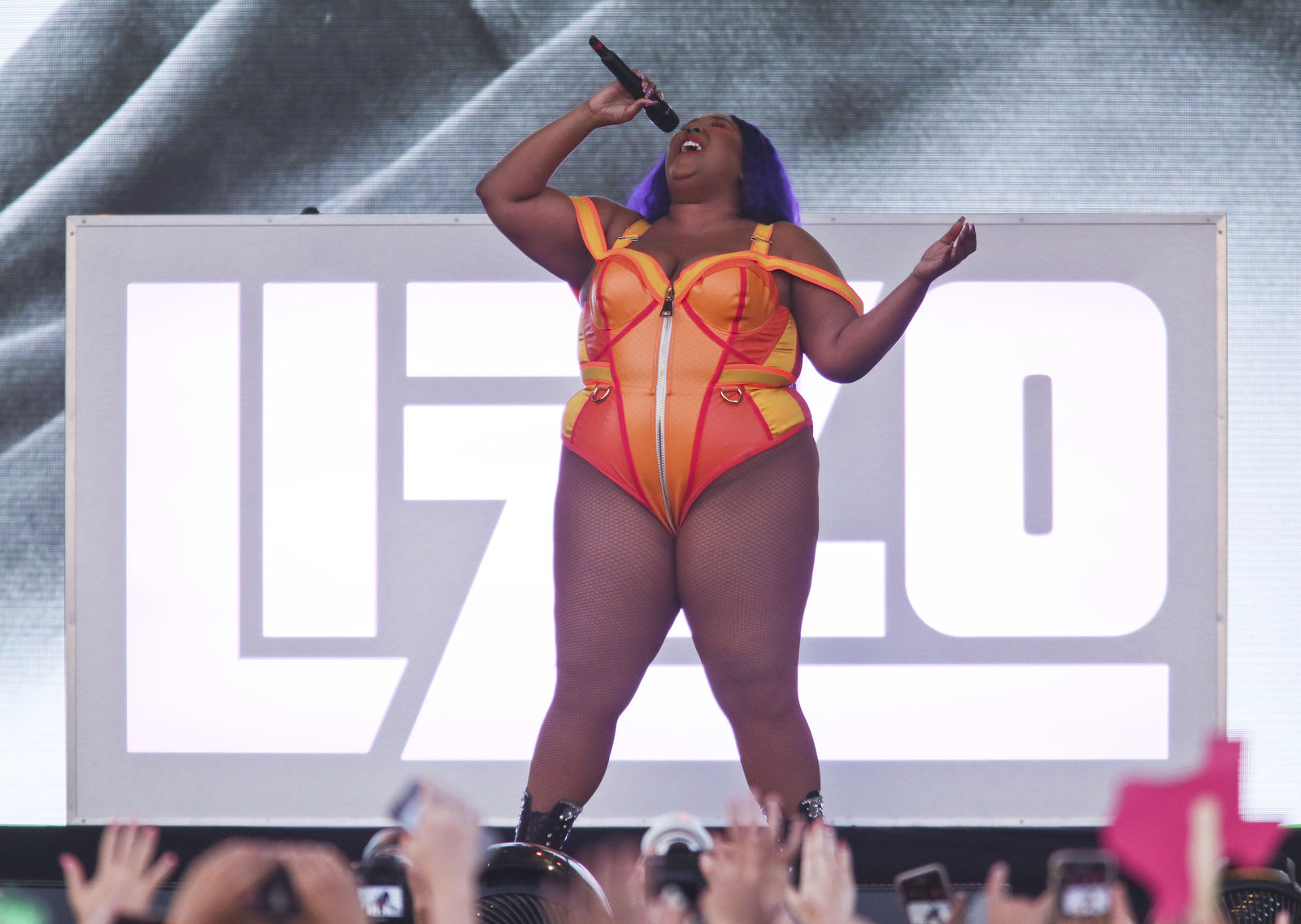 Lizzo performs during the first weekend of the Austin City Limits Music Festival in Zilker Park on Sunday, Oct. 6, 2019, in Austin, Texas. (Photo by Jack Plunkett/Invision/AP)