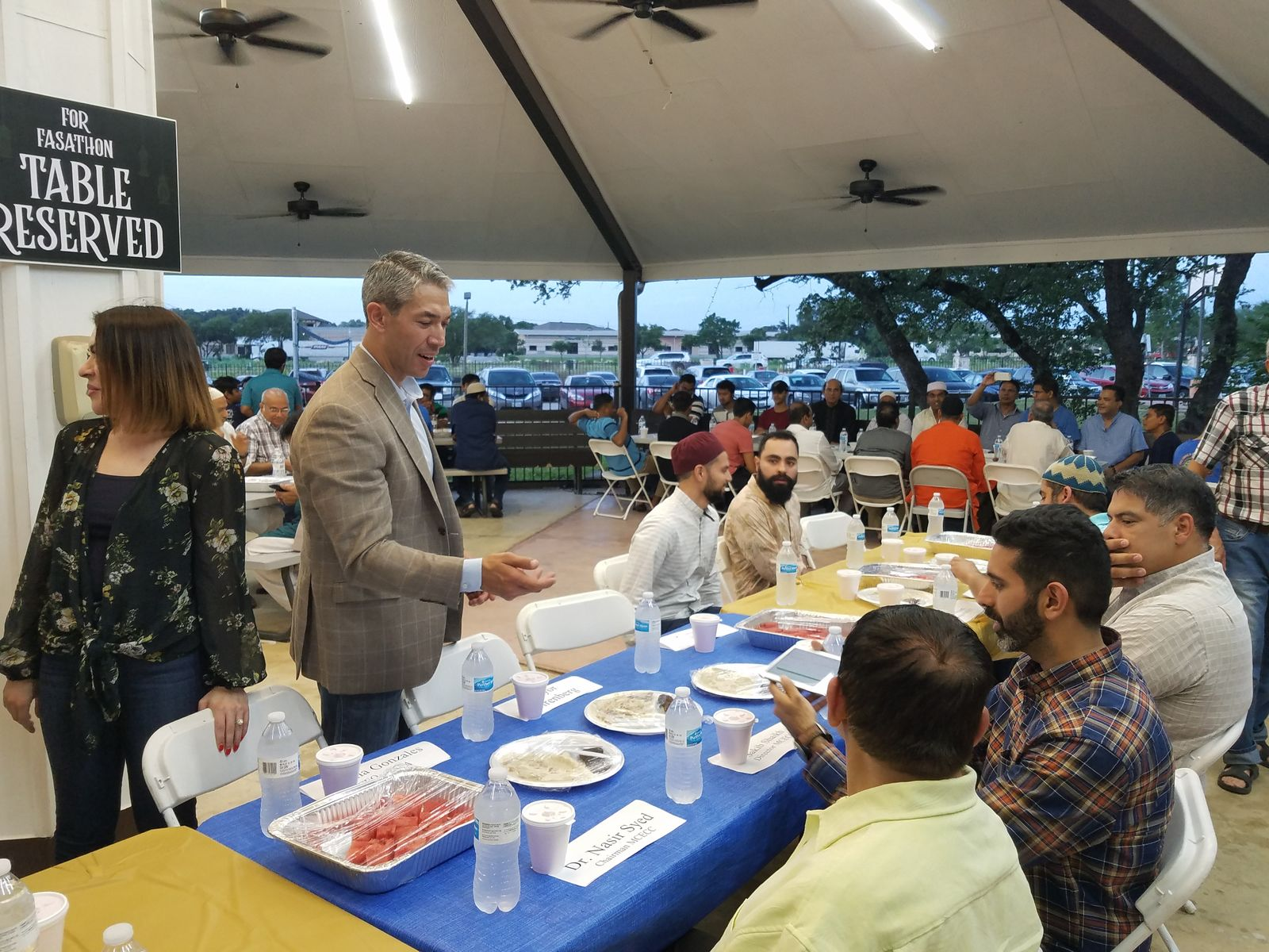 San Antonio Mayor Ron Nirenberg joins the local Muslim community at the recent Fastathon at the Muslim Children Education and Civic Center. (SBG San Antonio)