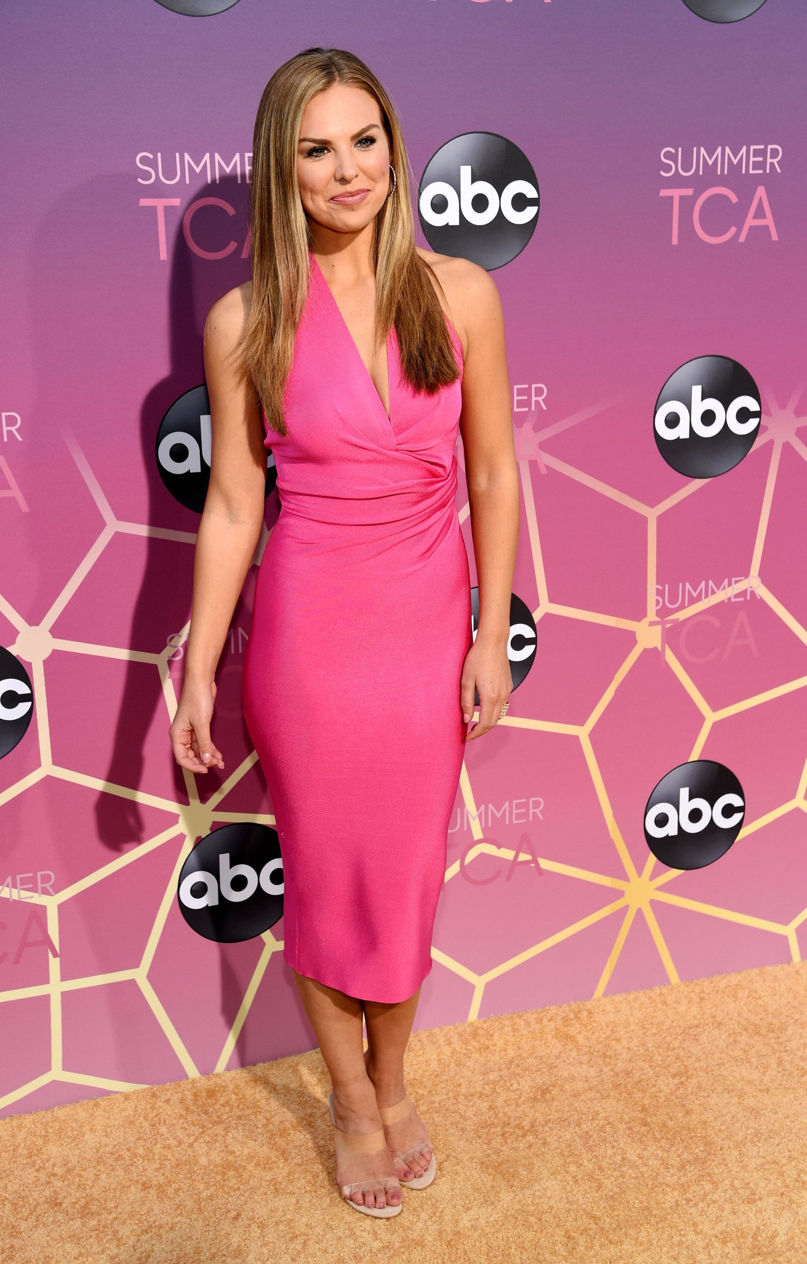 "FILE - In this Monday, Aug. 5, 2019 file photo, Hannah Brown poses at the ABC Television Critics Association Summer Press Tour All-Star Party at Soho House, in West Hollywood, Calif. Brown of ""The Bachelorette,'' Christie Brinkley, and former White House press secretary Sean Spicer are among the contestants on the next season of ''Dancing with the Stars.'' ABC announced the celebrity lineup Wednesday, Aug. 21, 2019, on ""Good Morning America.'' (Photo by Chris Pizzello/Invision/AP, File)"