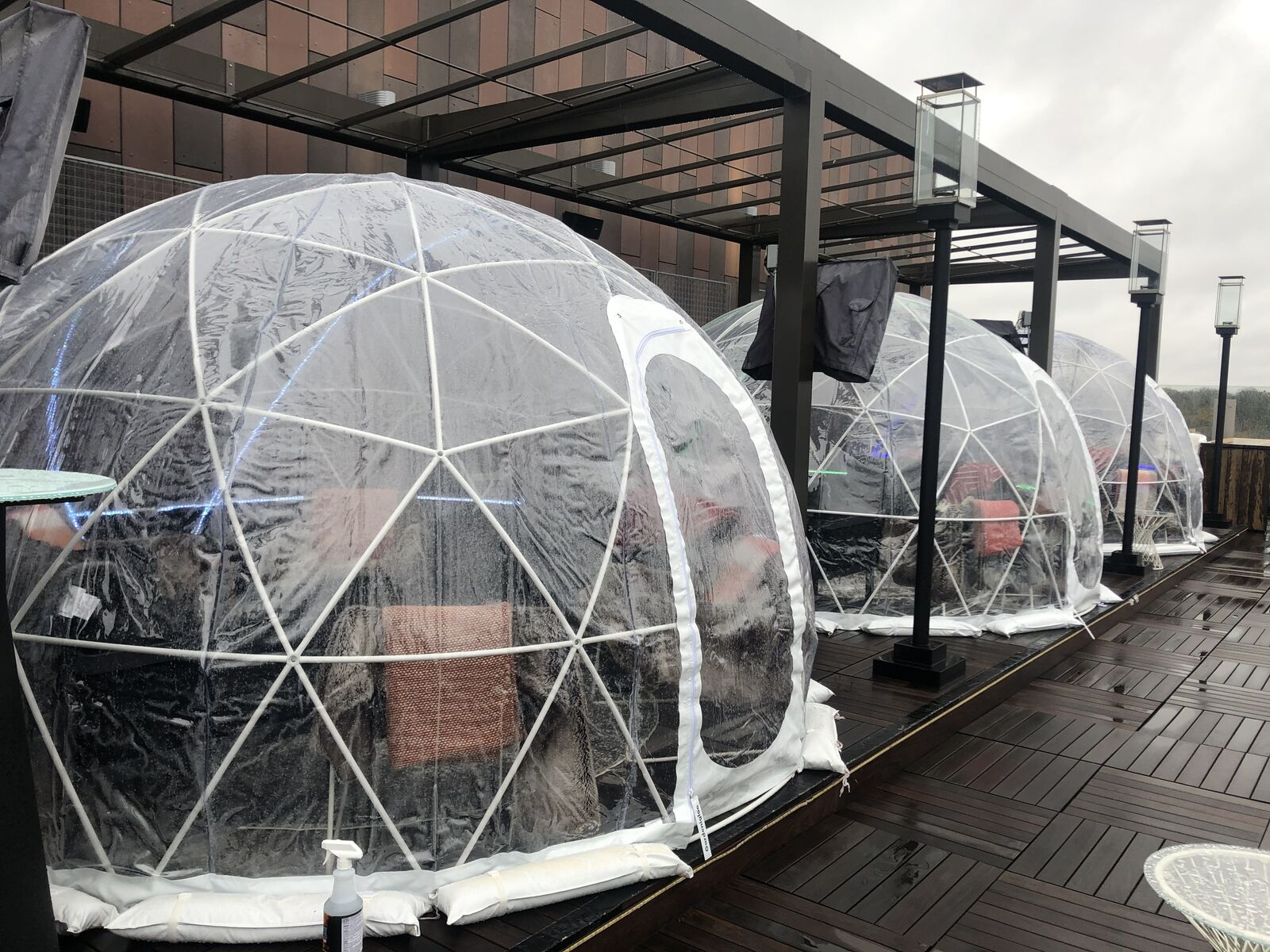 They've been a hit for the past few years in Dublin. Vaso's outdoor dining igloos will be back this year and are currently under construction. (WSYX/WTTE)